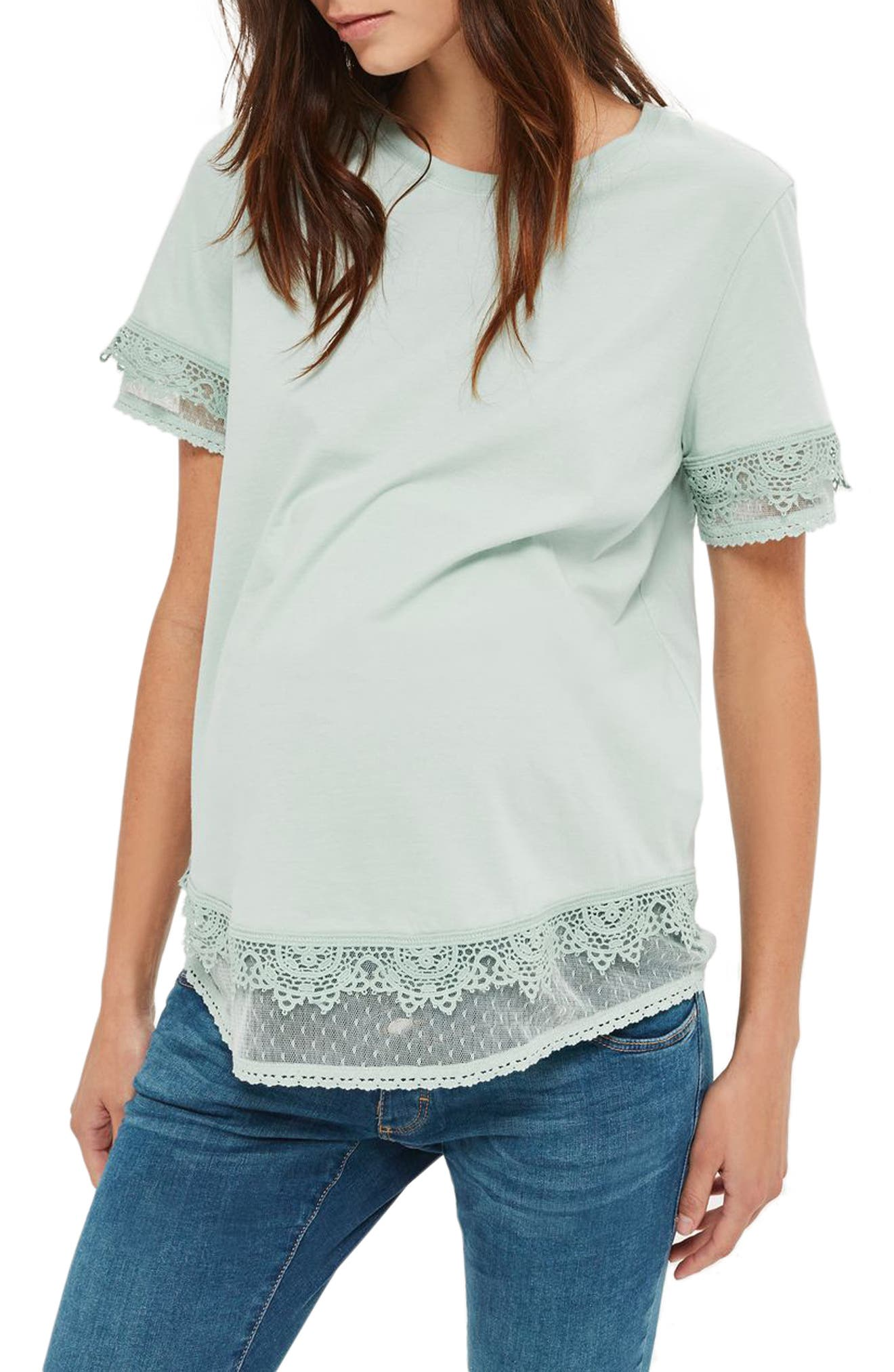 Topshop Tiered Trim Maternity Tee
