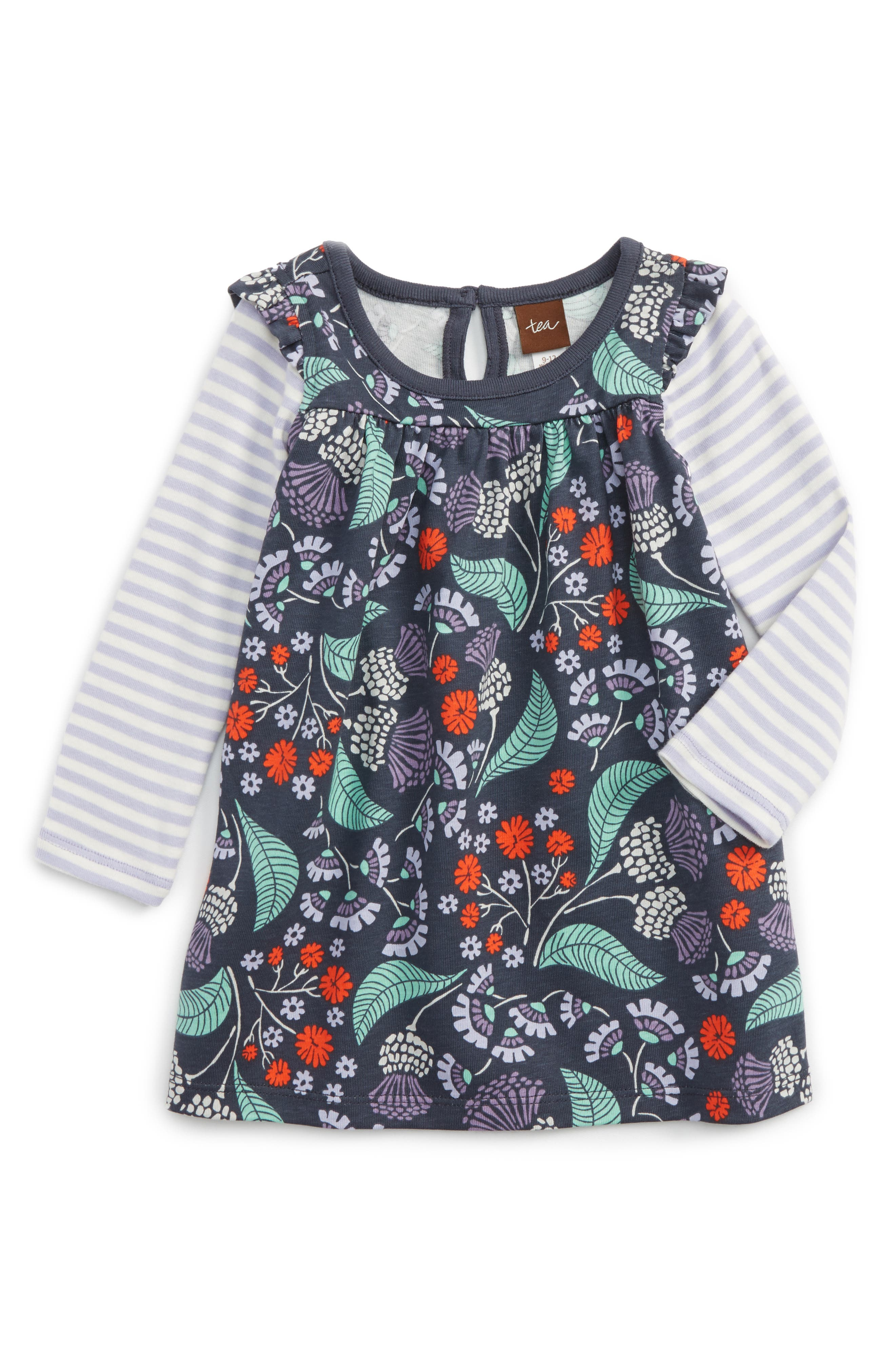 Tea Collection Thistle Dress (Baby Girls)