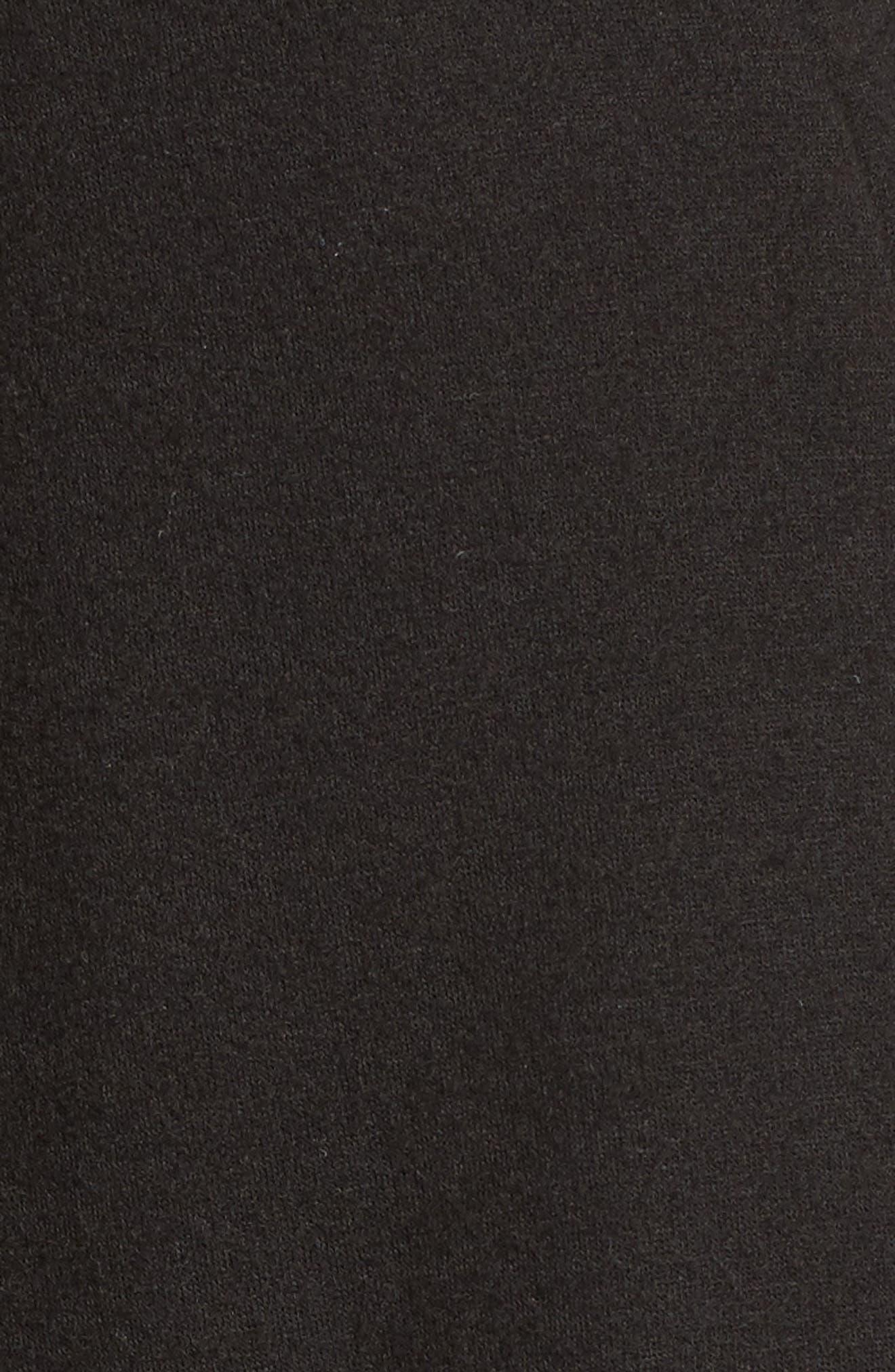 Alternate Image 5  - Bobeau High/Low Fleece Knit Cardigan (Regular & Petite)
