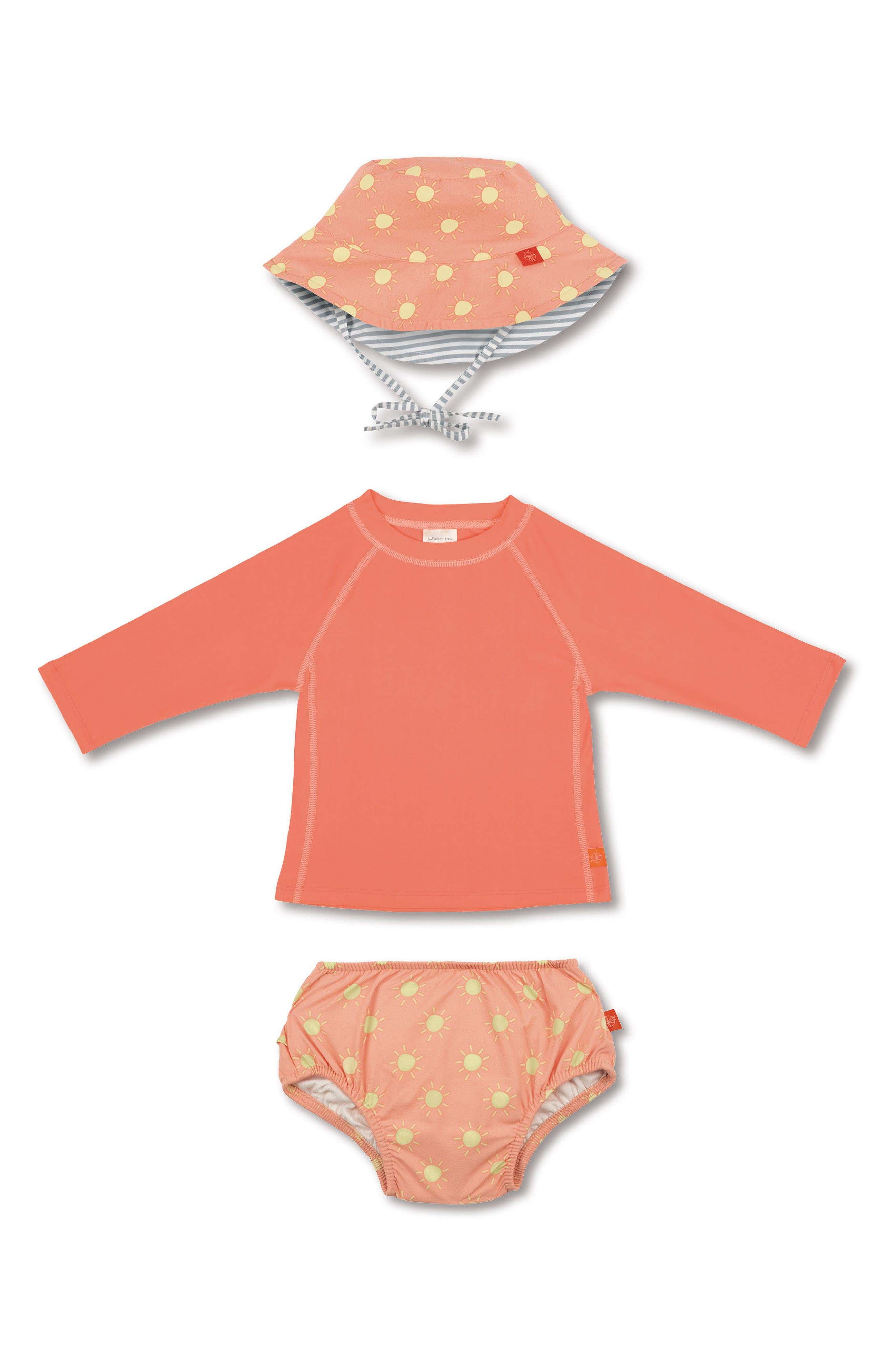 Lassig Two-Piece Rashguard Swimsuit & Hat Set (Baby & Toddler)