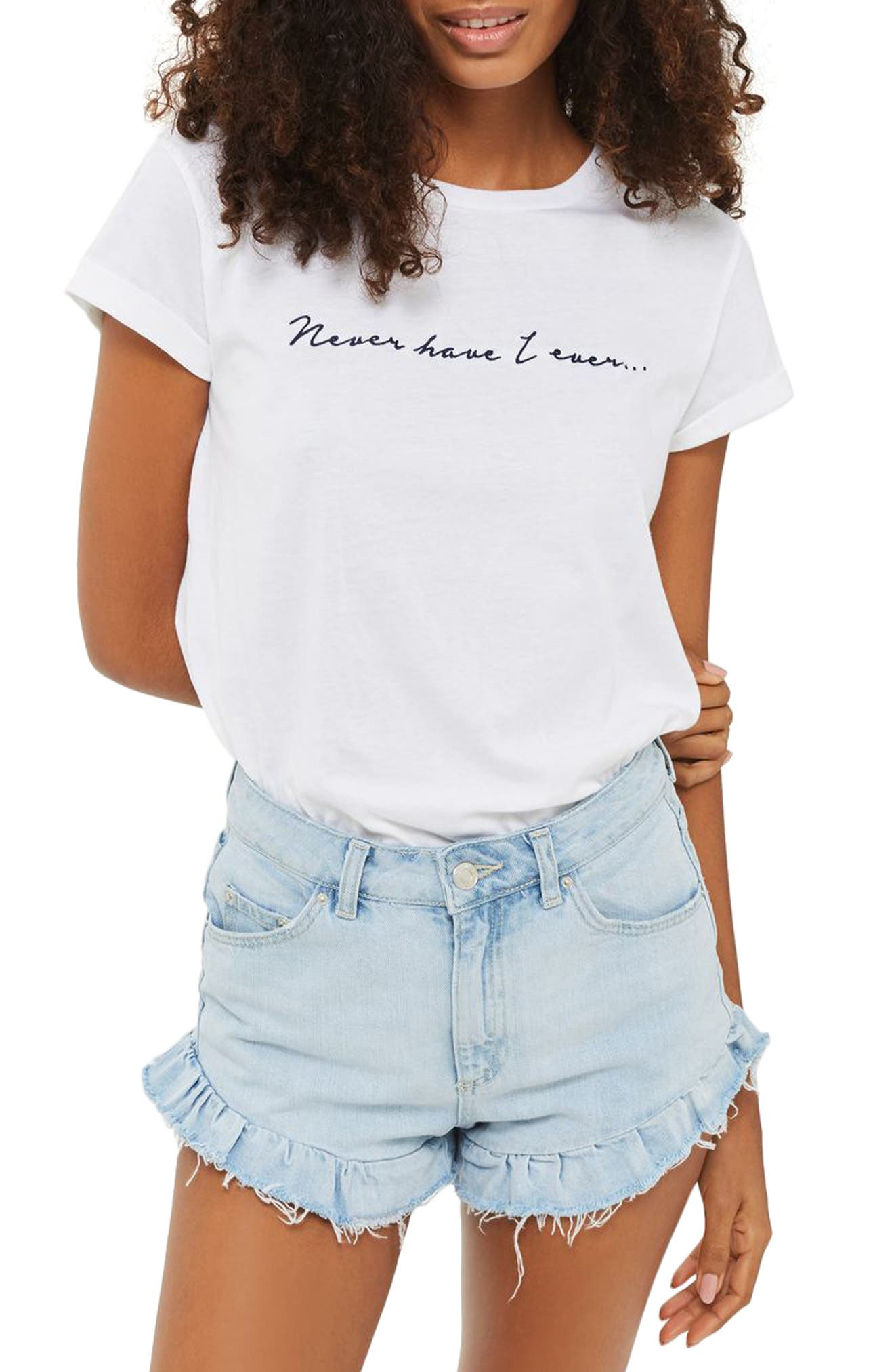 Topshop Never Have I Ever Tee