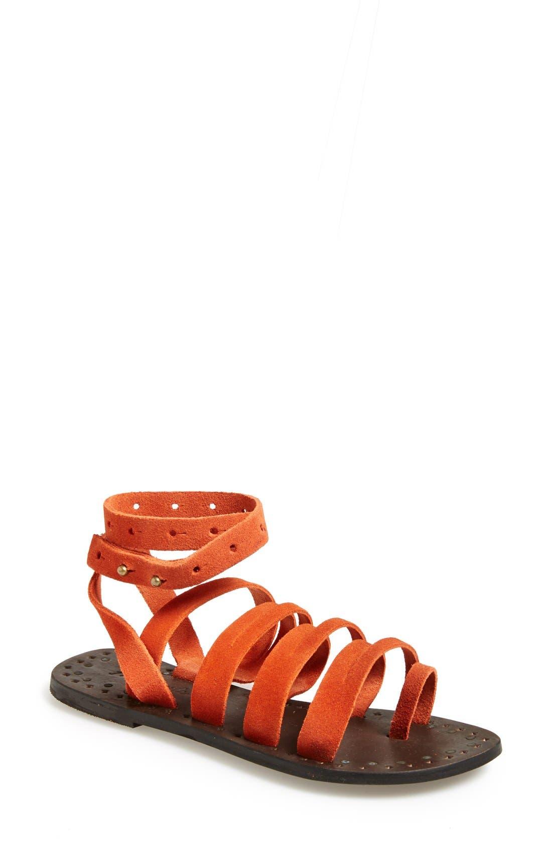 Alternate Image 1 Selected - Free People 'Sunever' Leather Gladiator Sandal (Women)