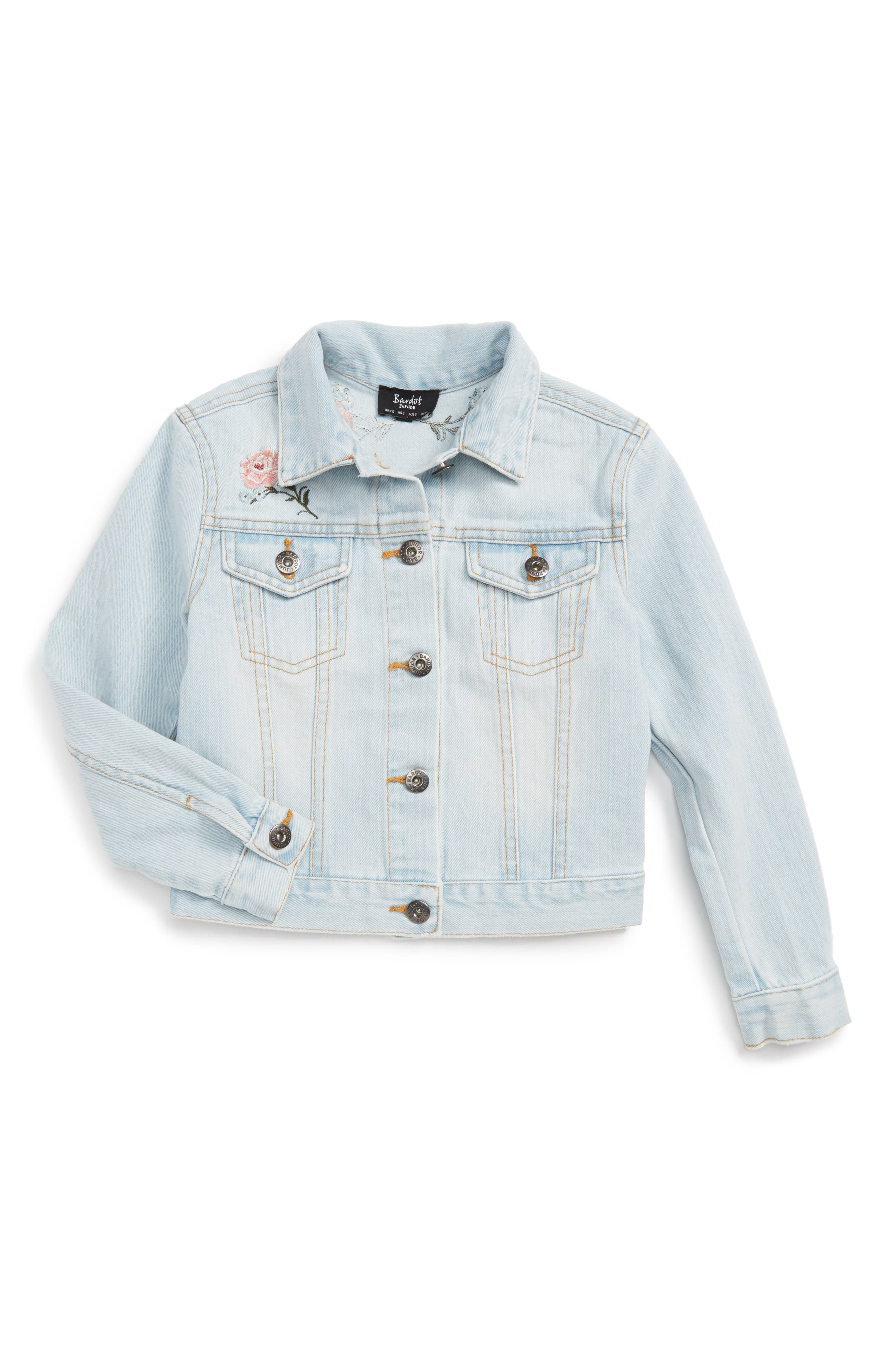 Bardot Junior Embroidered Denim Jacket (Little Girls)