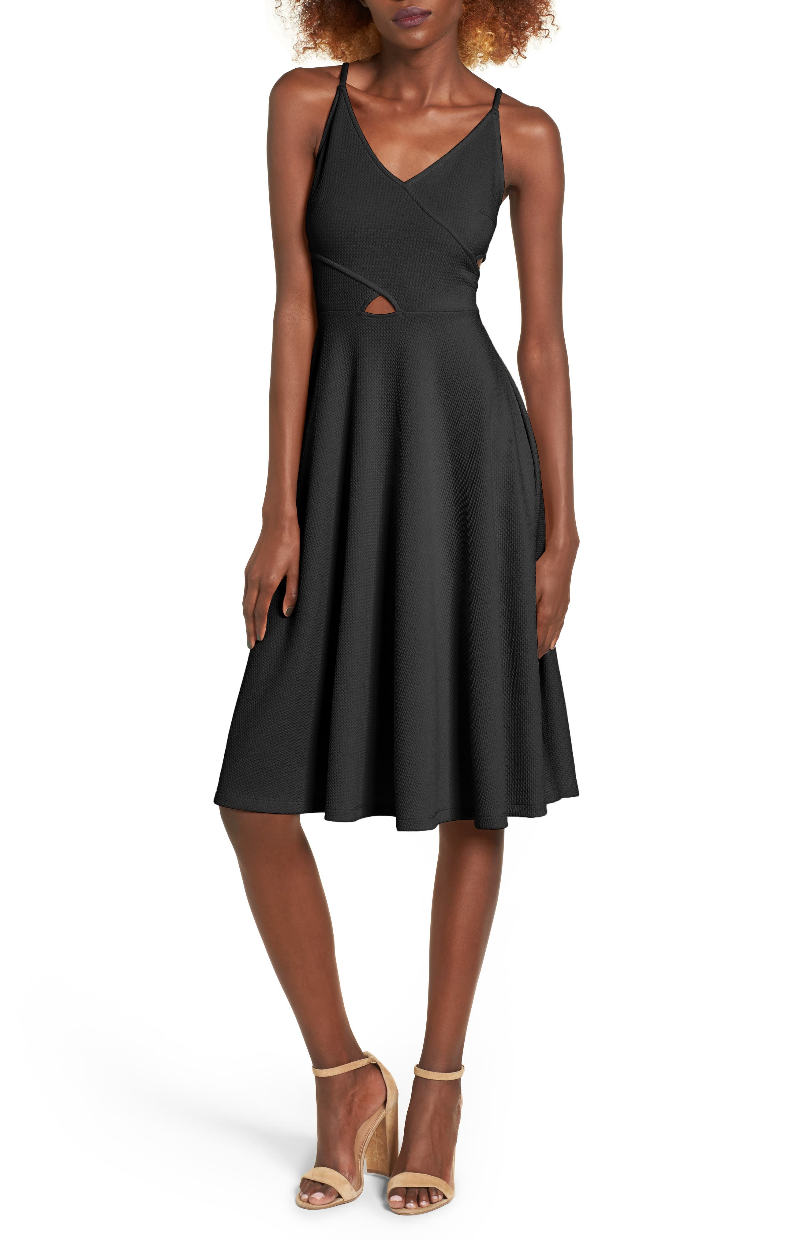 Soprano Cutout Fit & Flare Dress