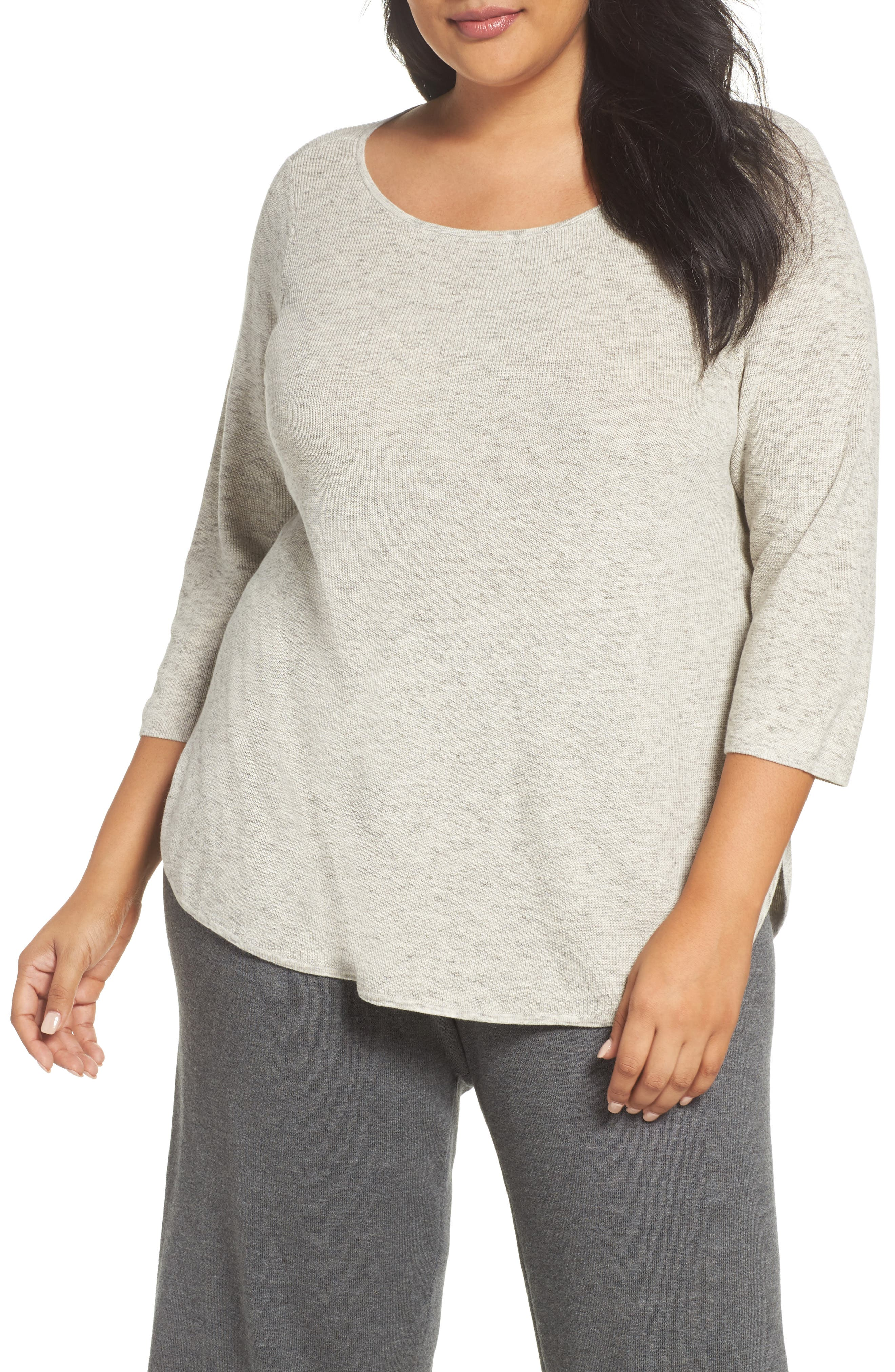Eileen Fisher Organic Cotton Sweater (Plus Size)