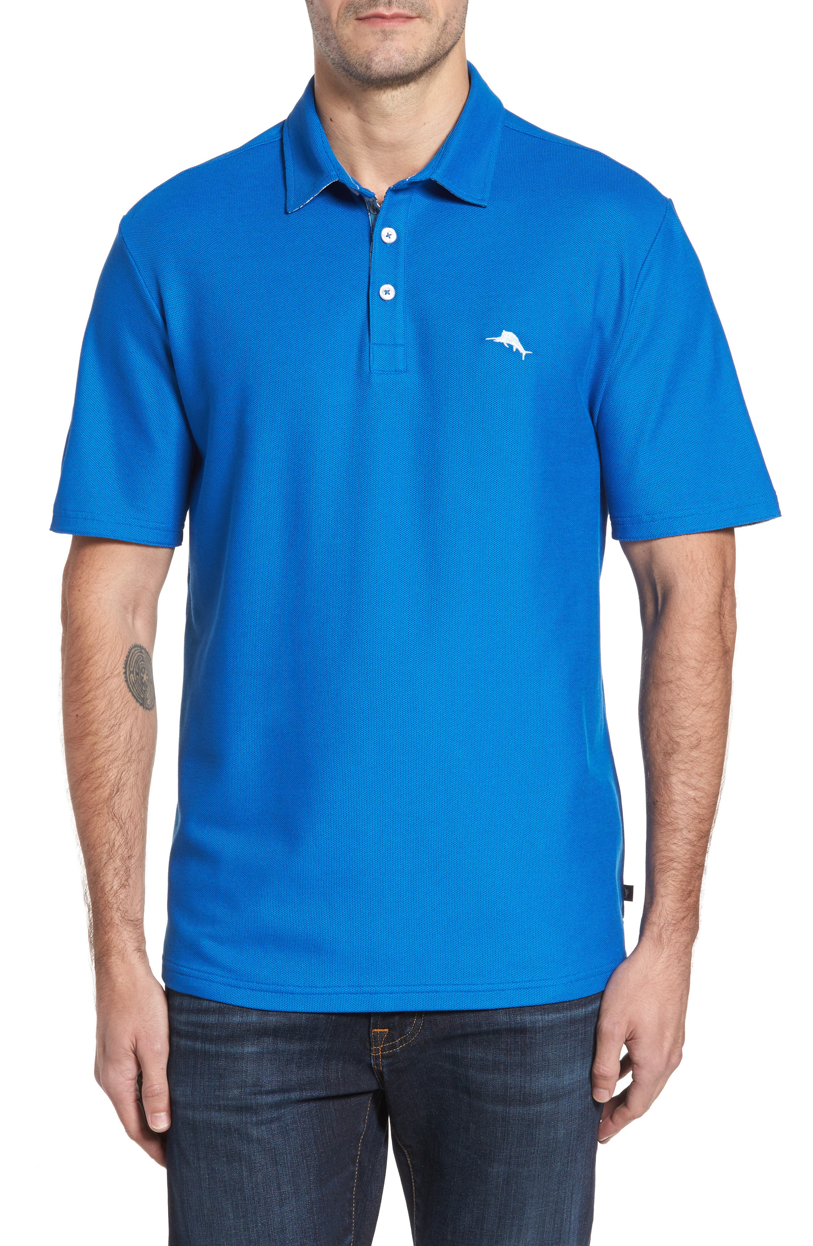 Tommy Bahama Limited Edition Five O'Clock Piqué Polo (Big & Tall)