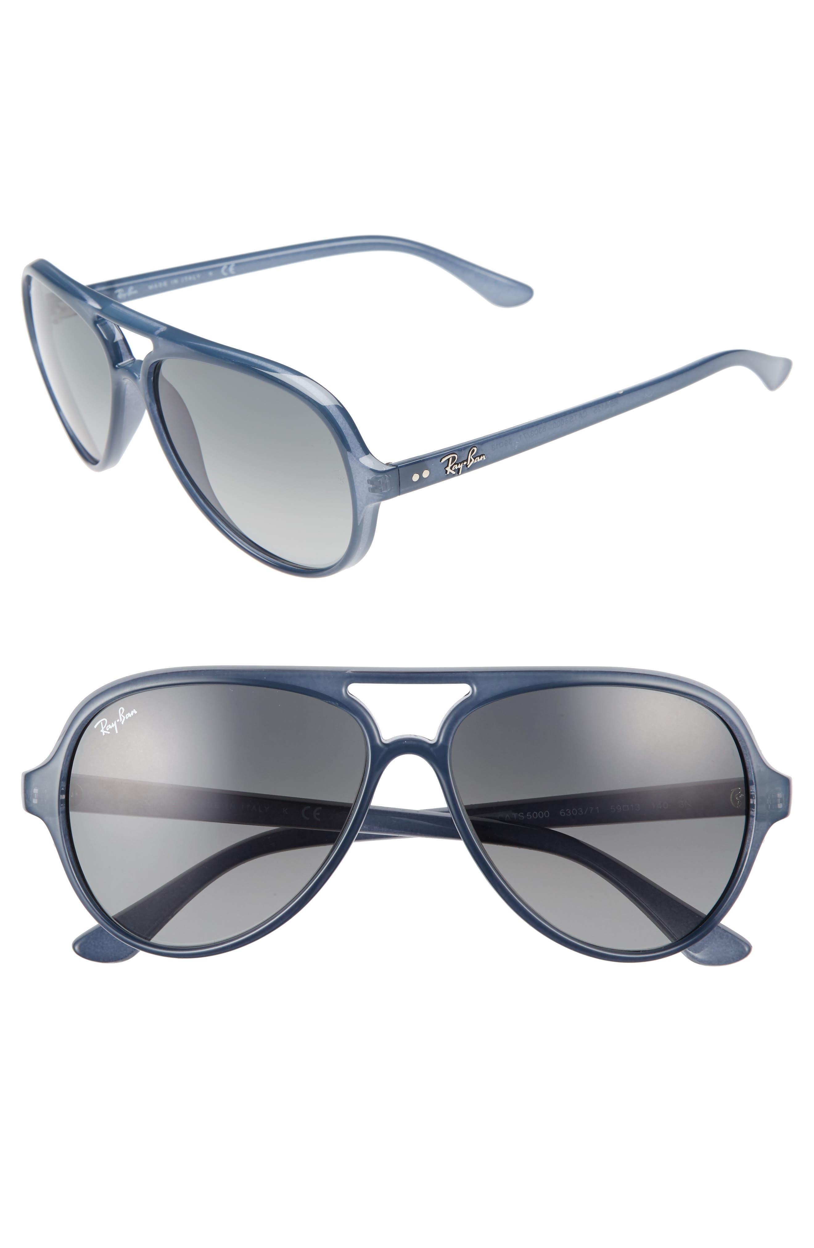 Ray-Ban 59mm Resin Aviator Sunglasses