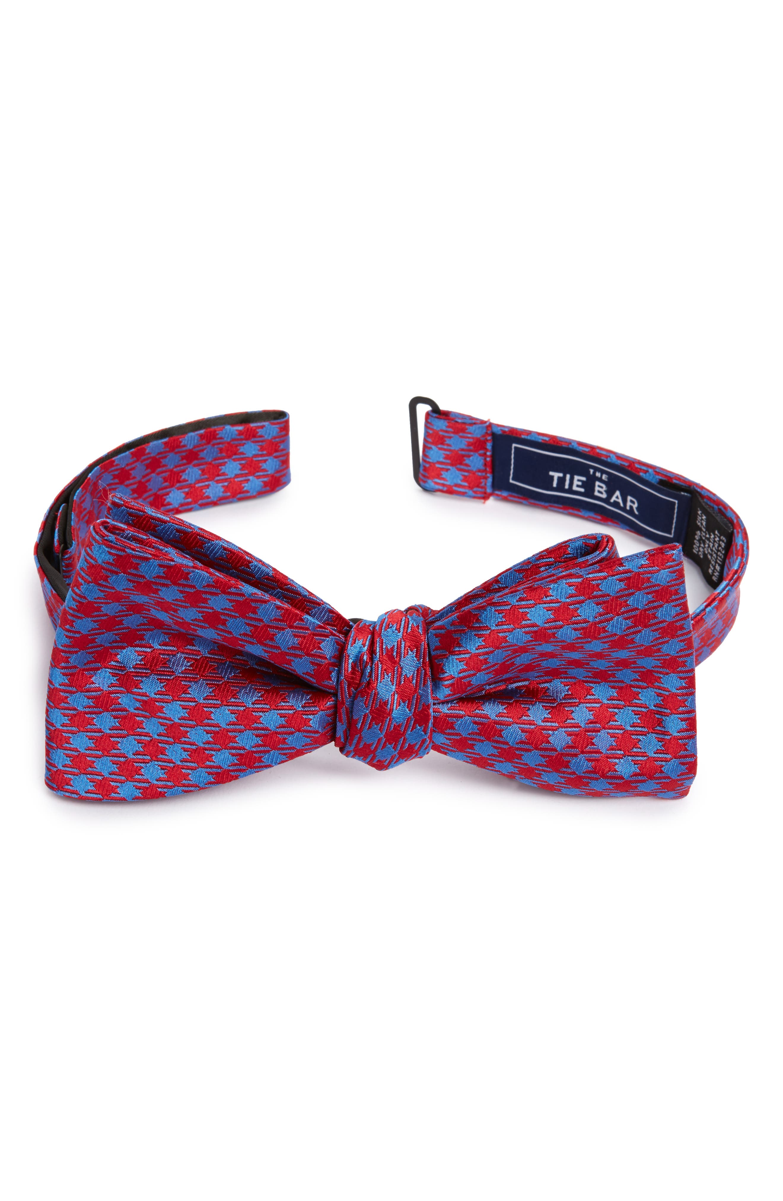 The Tie Bar Commix Check Silk Bow Tie