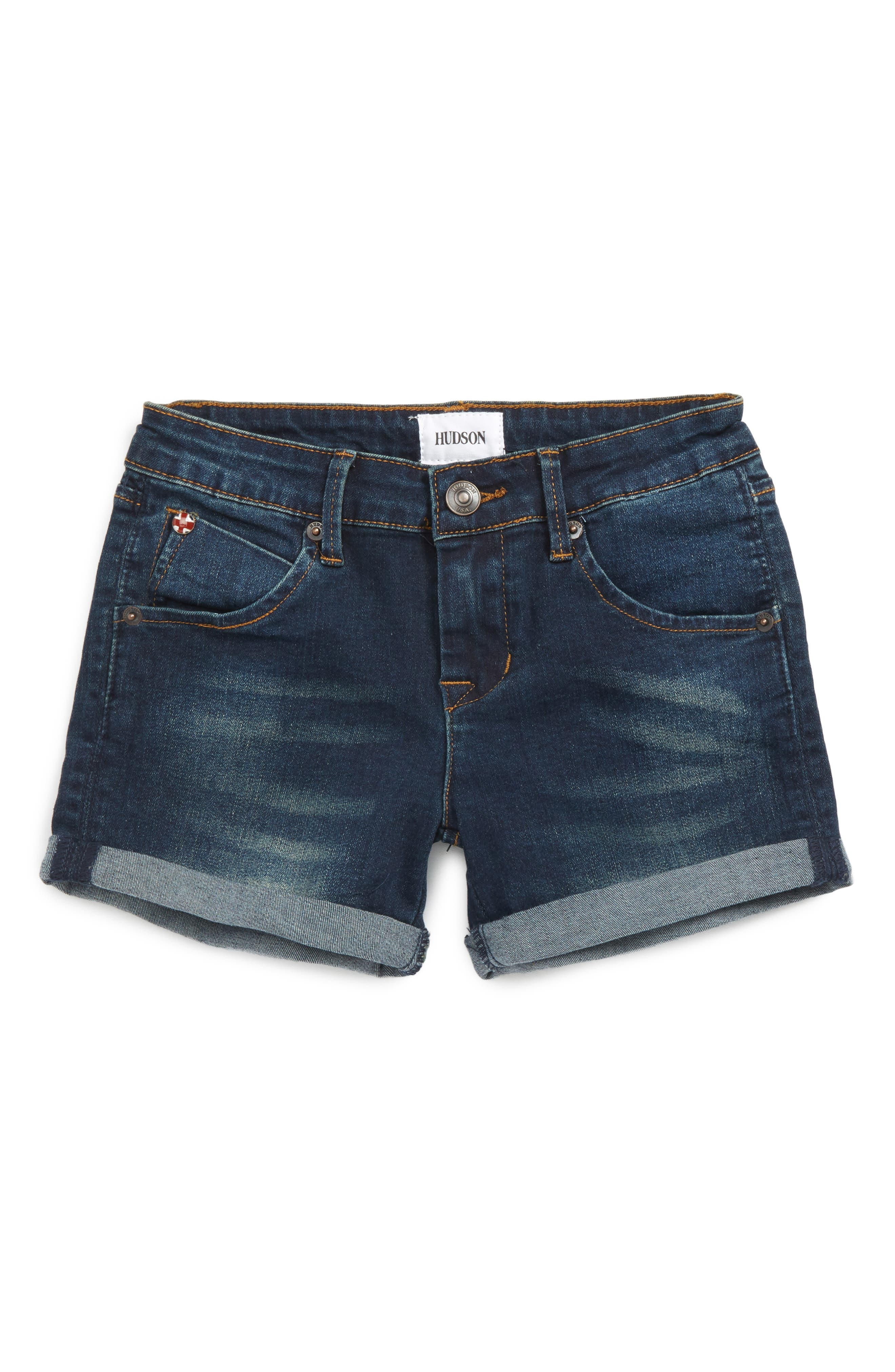 Hudson Kids Roll Cuff Denim Shorts (Big Girls)