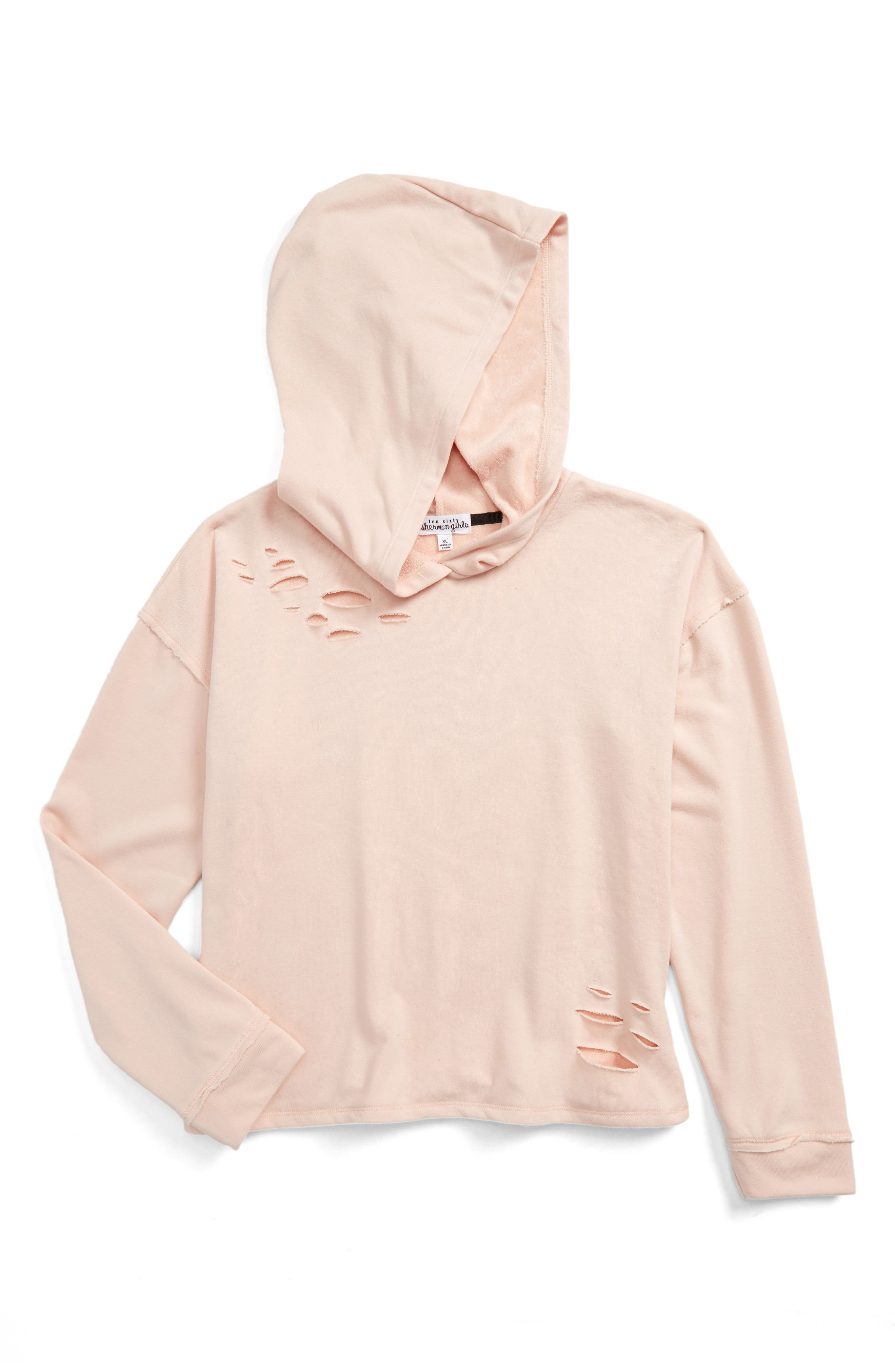 Ten Sixty Sherman Destructed Hoodie (Big Girls)