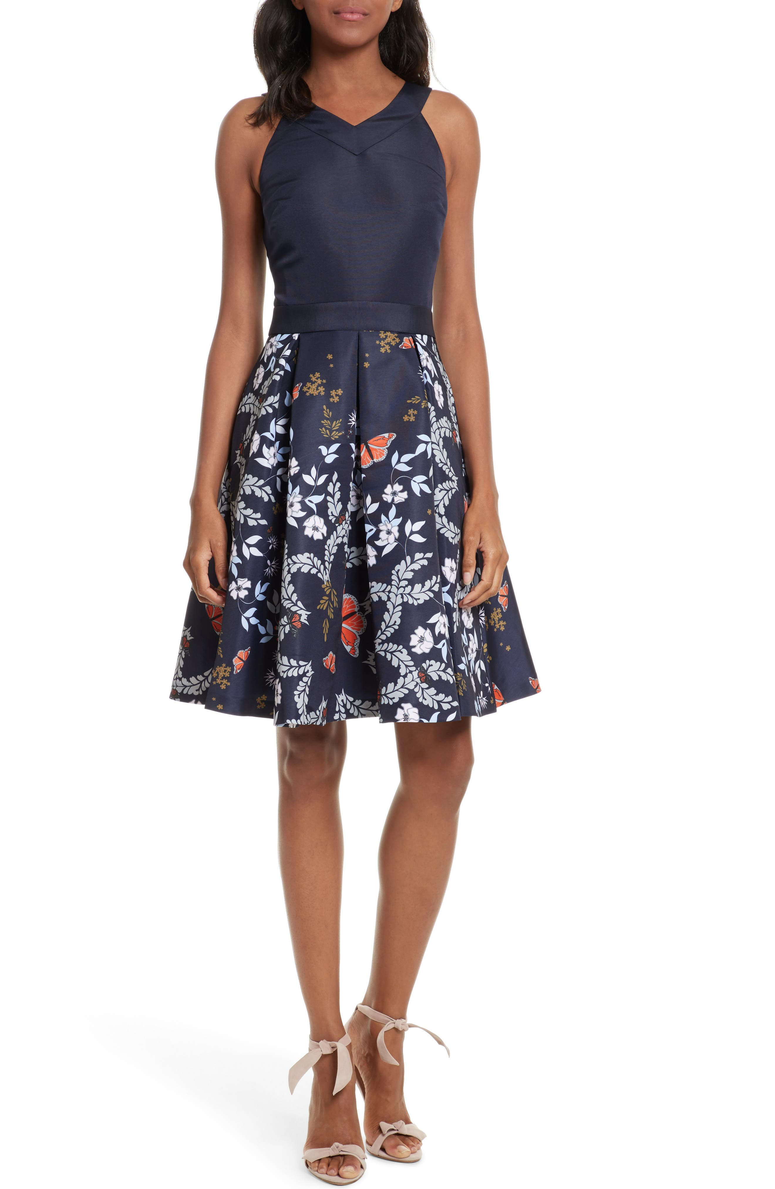 Ted Baker London Bethah Kyoto Fit & Flare Dress