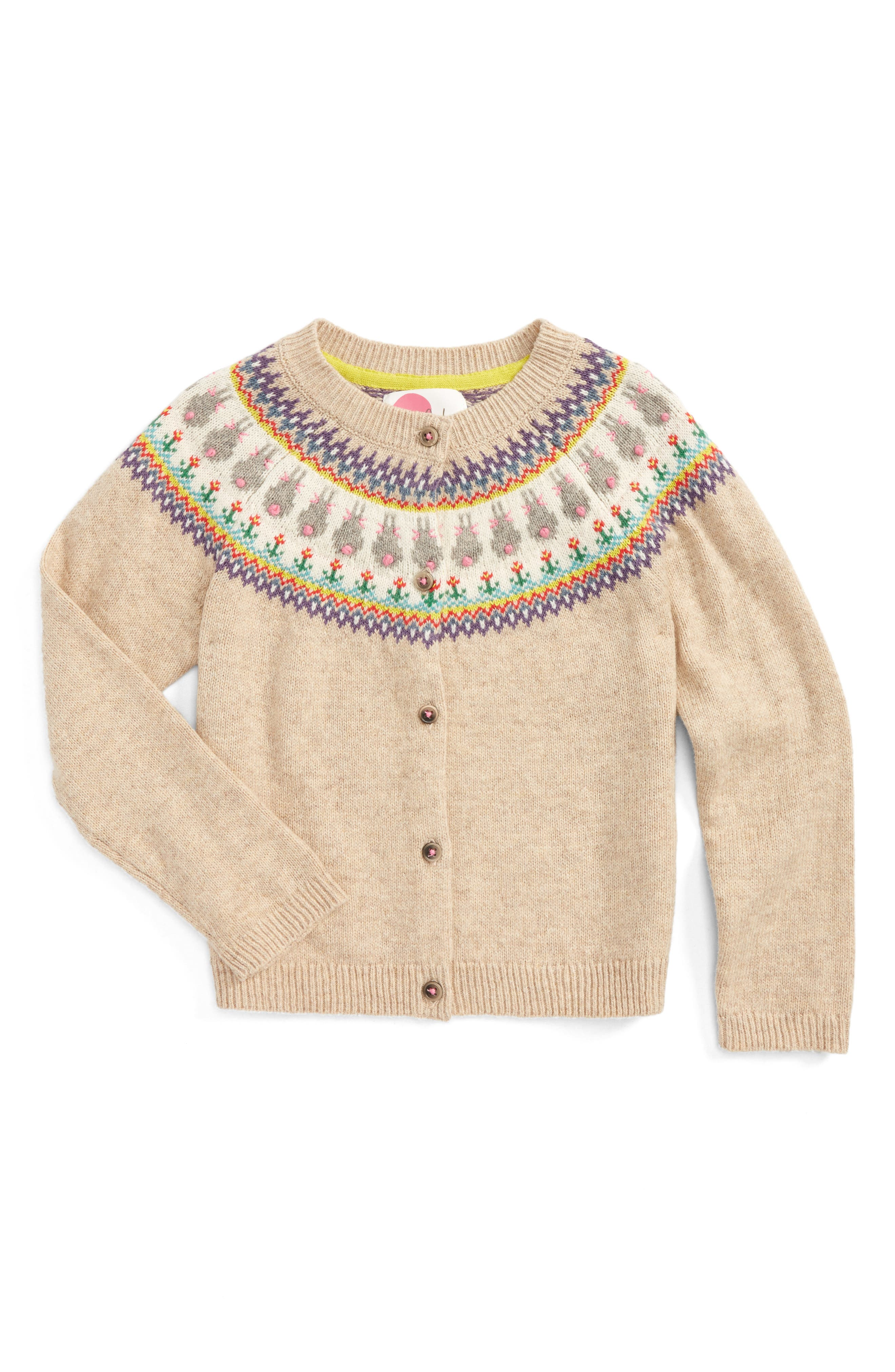 Mini Boden Fair Isle Cardigan (Toddler Girls, Little Girls & Big Girls)