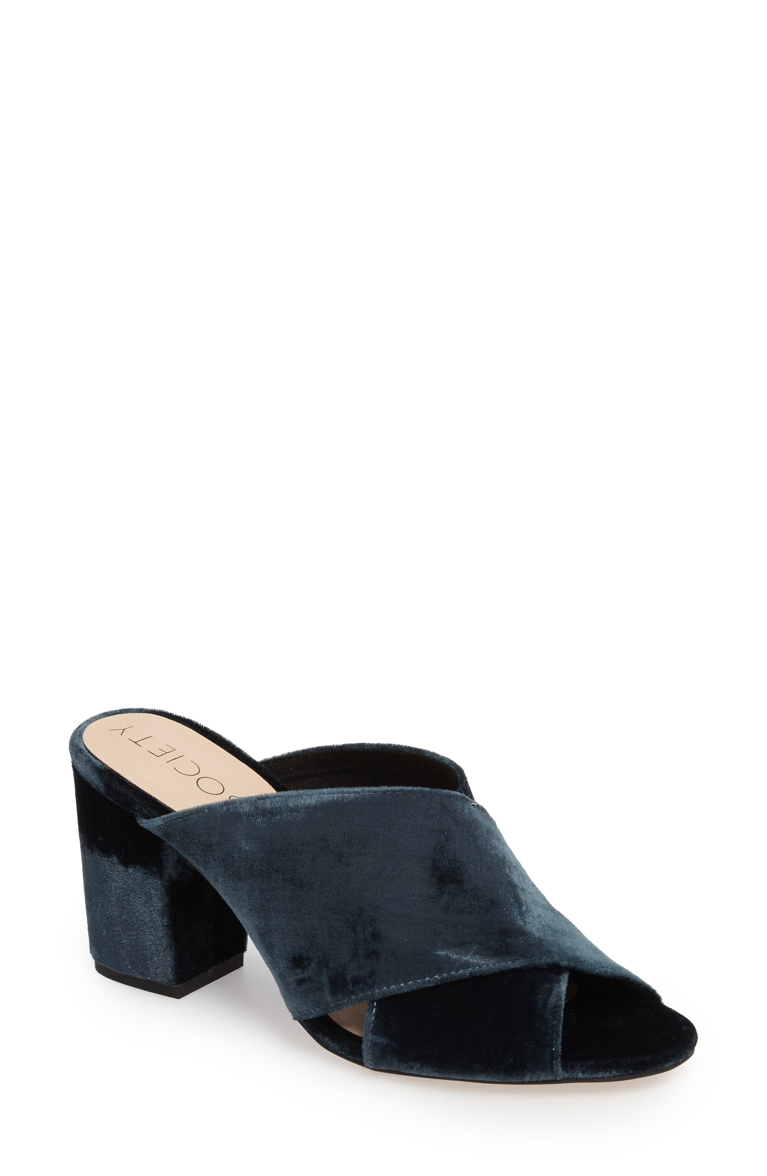 Sole Society Luella Flower Embroidered Mule (Women)