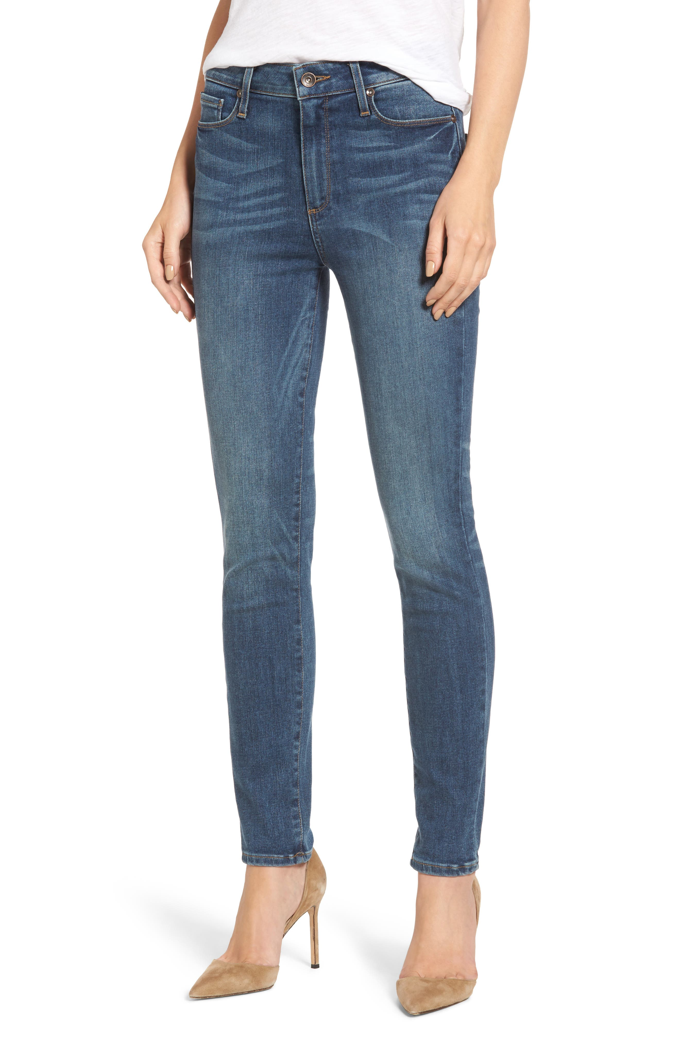 PAIGE Transcend - Hoxton High Waist Skinny Jeans (Westminster)
