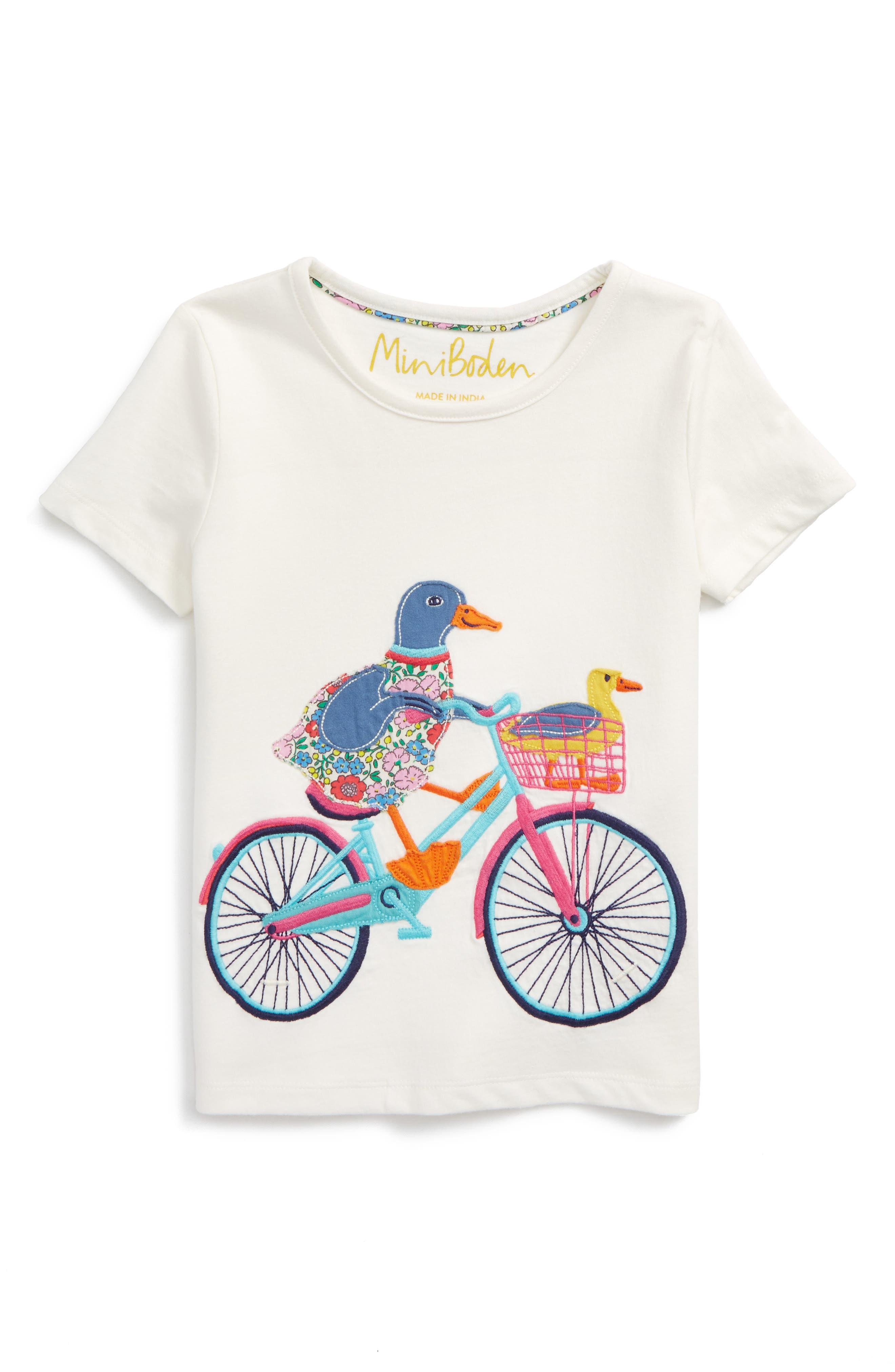 Mini Boden Patchwork Appliqué Tee (Toddler Girls, Little Girls & Big Girls)