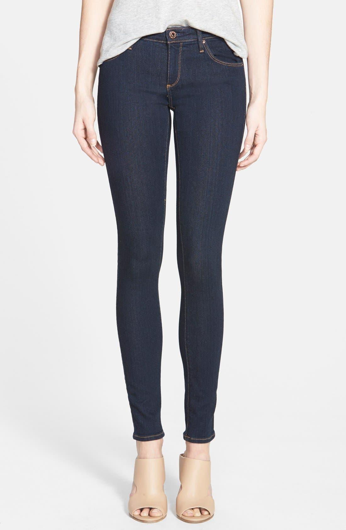 Alternate Image 1 Selected - AG Jeans Super Skinny Stretch Jeans (Delight)