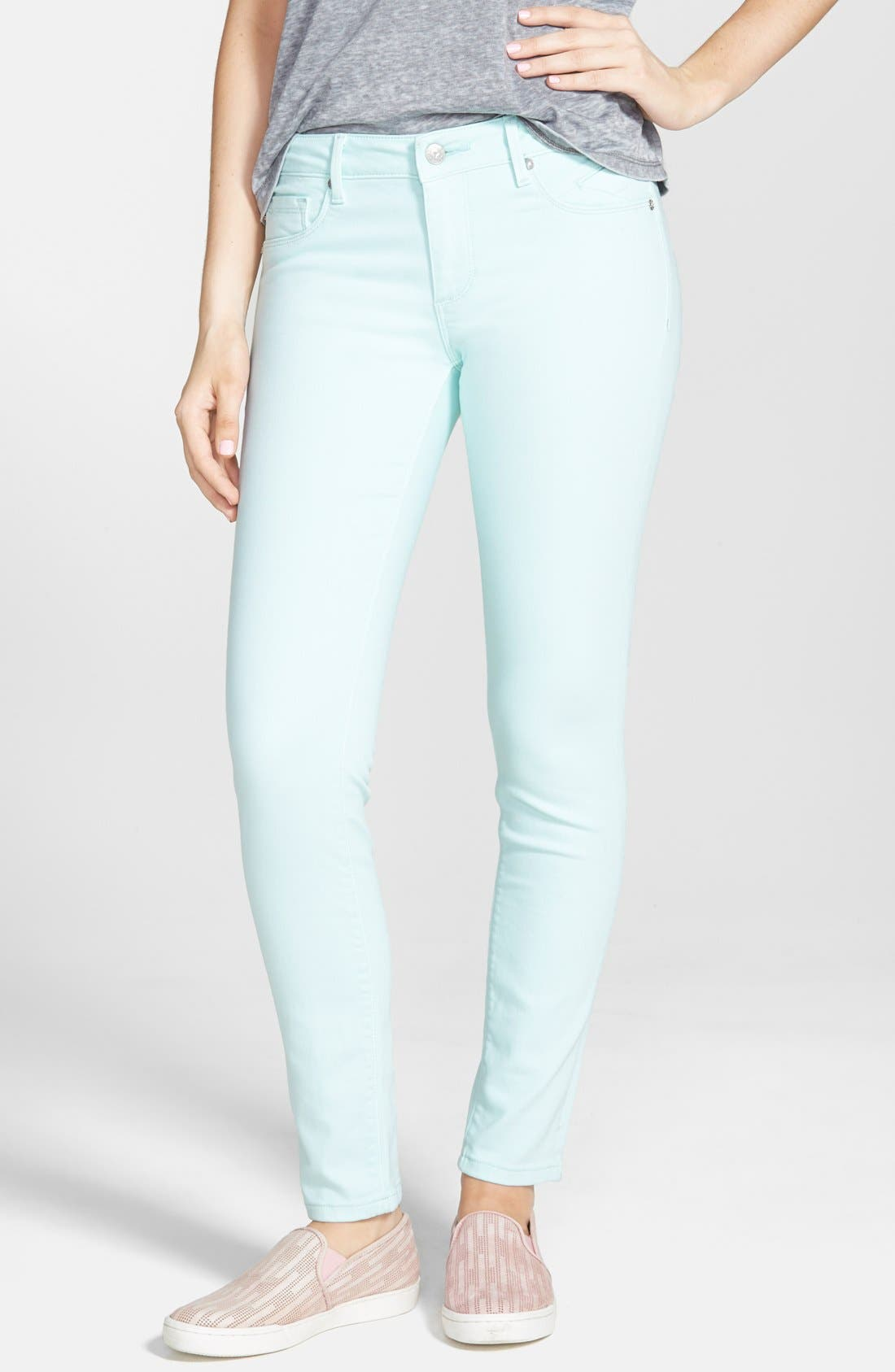 Alternate Image 1  - Vigoss Skinny Jeans (Mint)