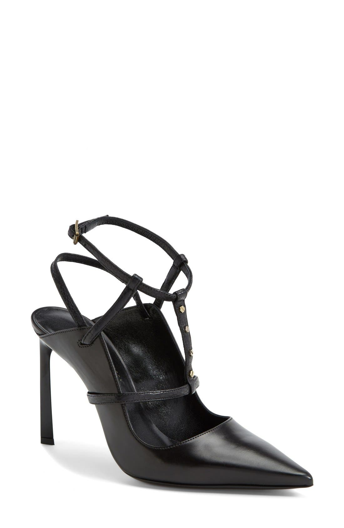 Alternate Image 1 Selected - Lanvin Studded T-Strap Leather Pump (Women)