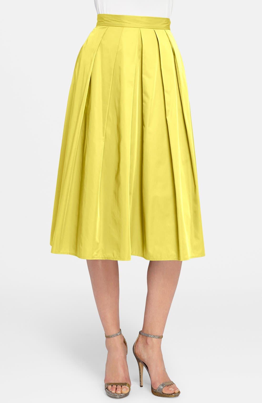 Alternate Image 1 Selected - Catherine Catherine Malandrino 'Ronnie' Pleat Midi Skirt