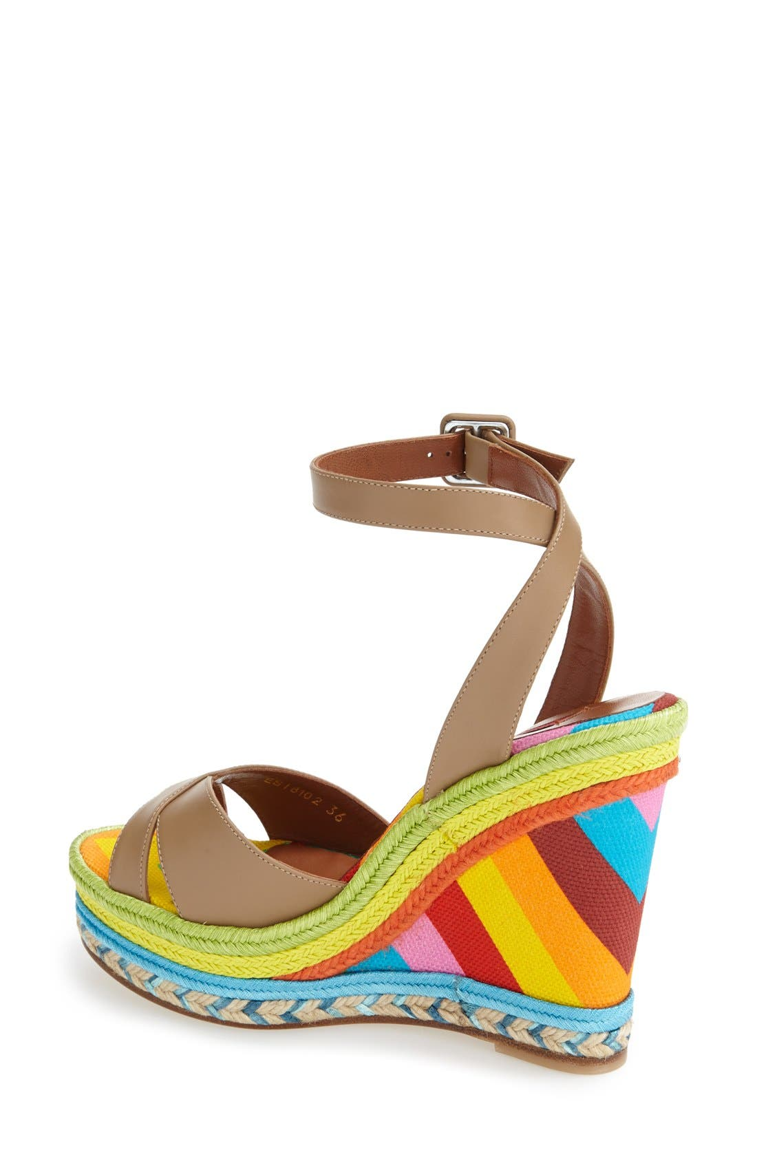 Alternate Image 2  - Valentino Espadrille Wedge Sandal (Women)