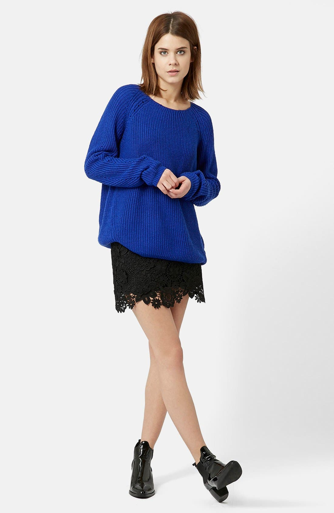 Alternate Image 5  - Topshop 3D Lace Miniskirt