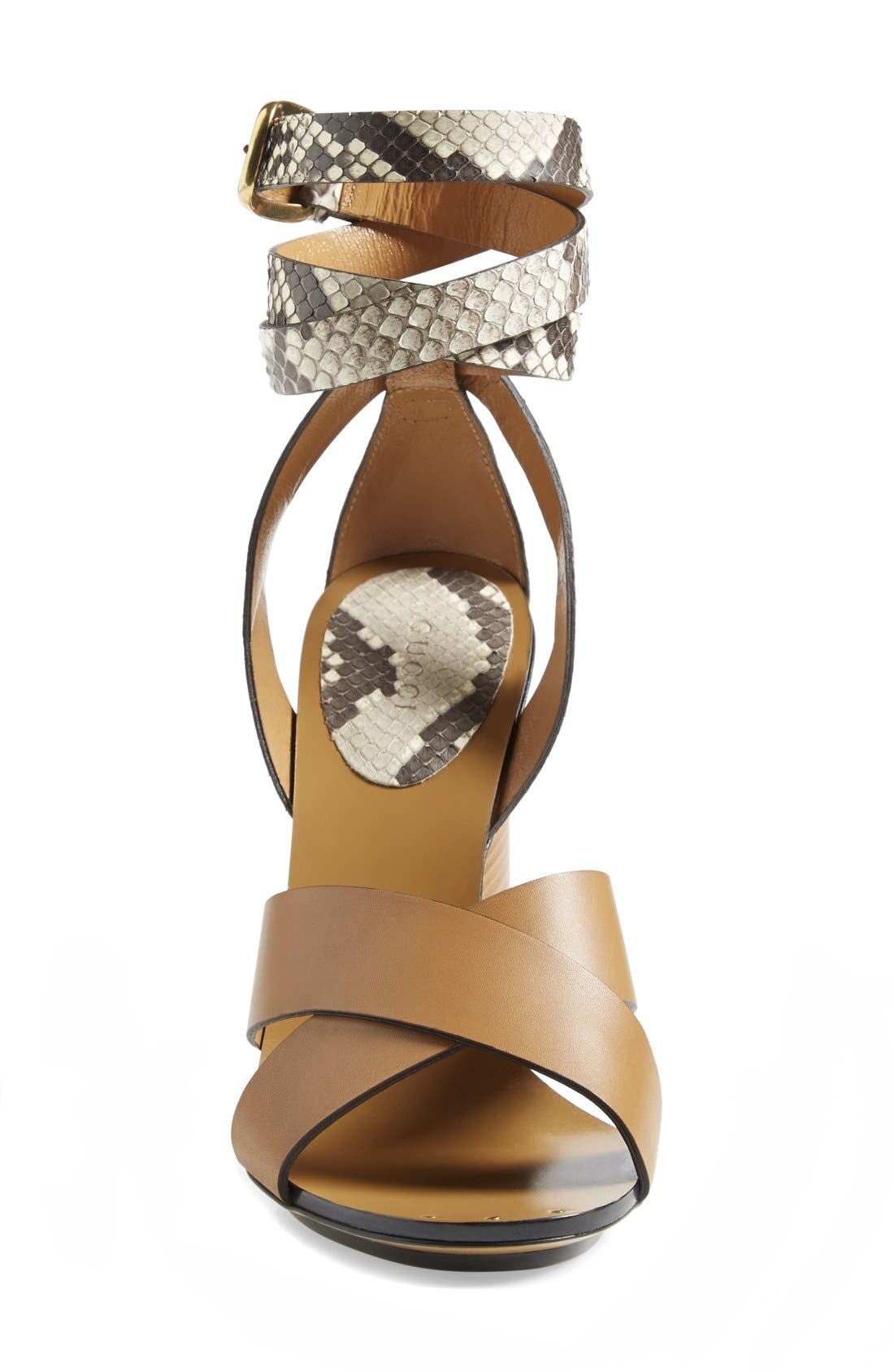 Alternate Image 3  - Gucci 'Candy' Genuine Python & Leather Sandal (Women)