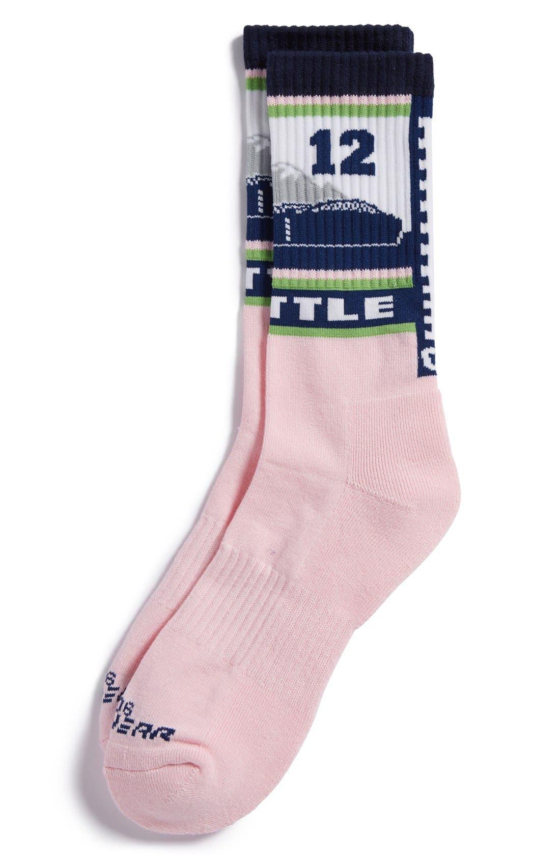 Alternate Image 1 Selected - G206 Wear 'Seattle Seahawks - Hawk Nation' Socks (Big Kids)