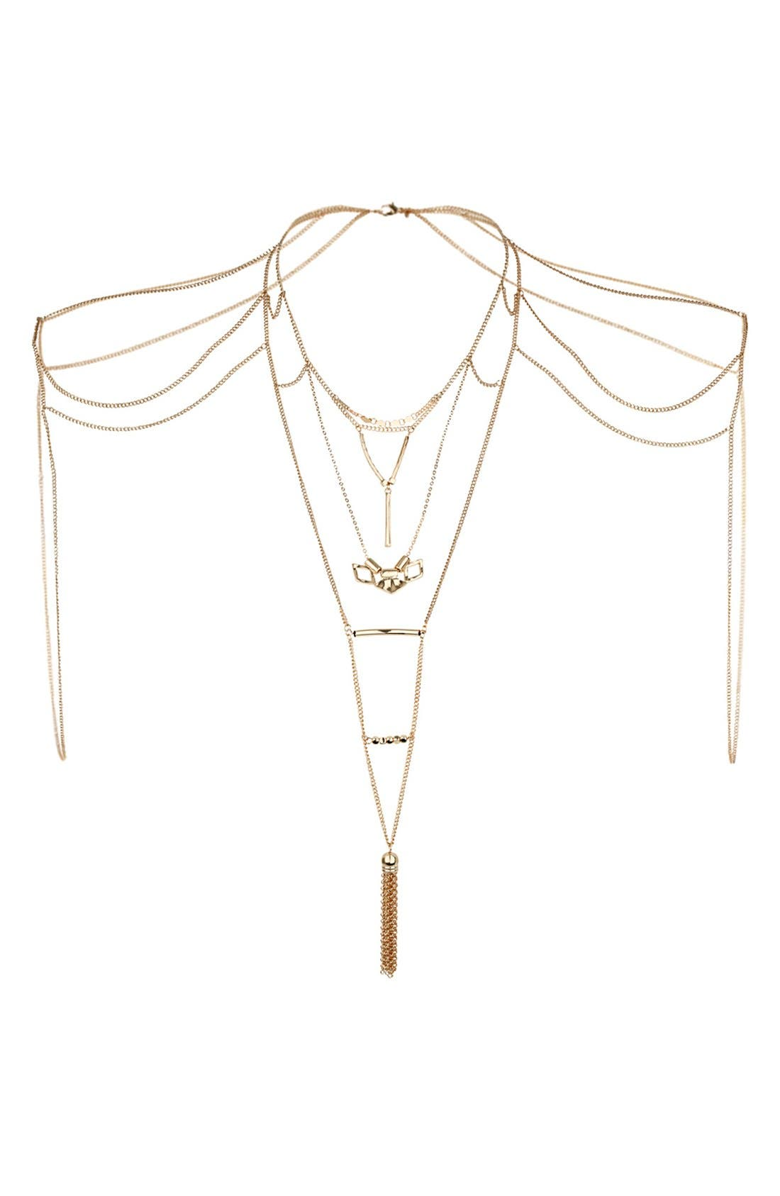 Alternate Image 1 Selected - Topshop Tassel Drop Body Chain