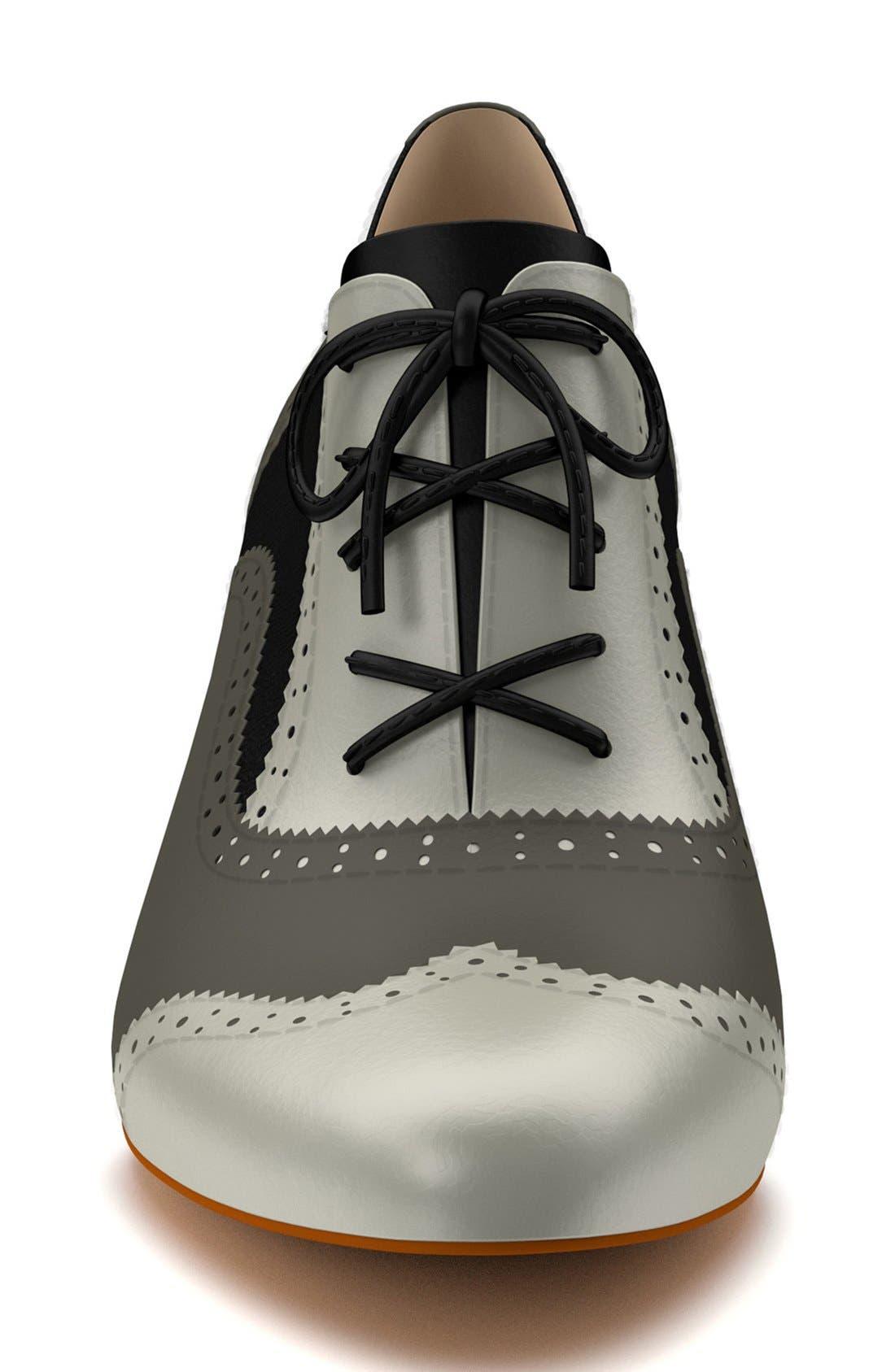 Alternate Image 4  - Shoes of Prey Colorblock Genuine Calf Hair Oxford Bootie (Women)