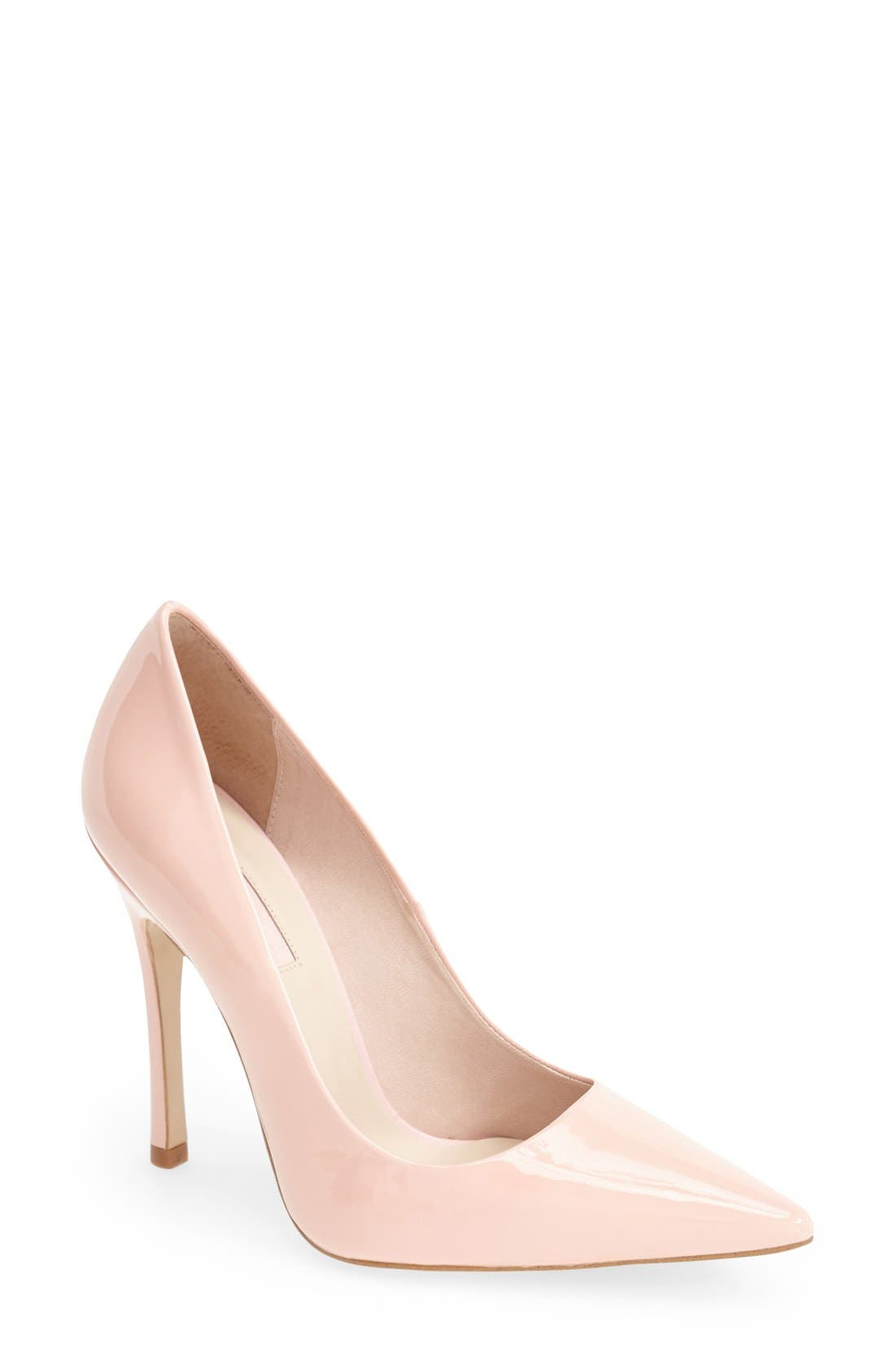 Main Image - Topshop 'Gallop' Patent Pointy Toe Pump (Women)