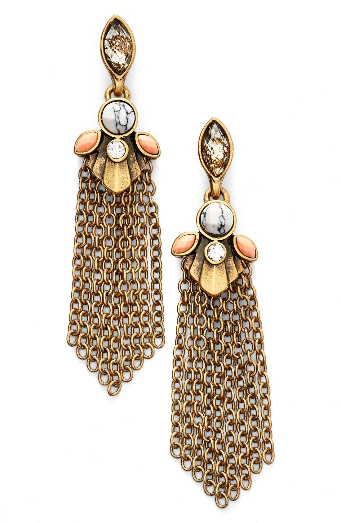 Alternate Image 1 Selected - Anne Klein Tassel Drop Earrings