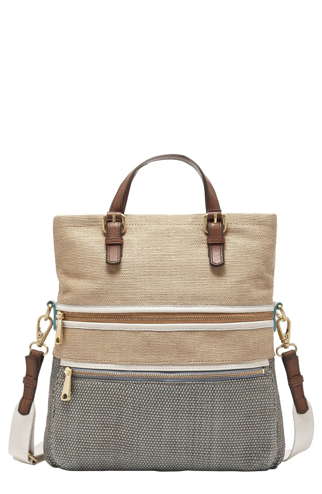 Main Image - Fossil 'Explorer' Straw Tote