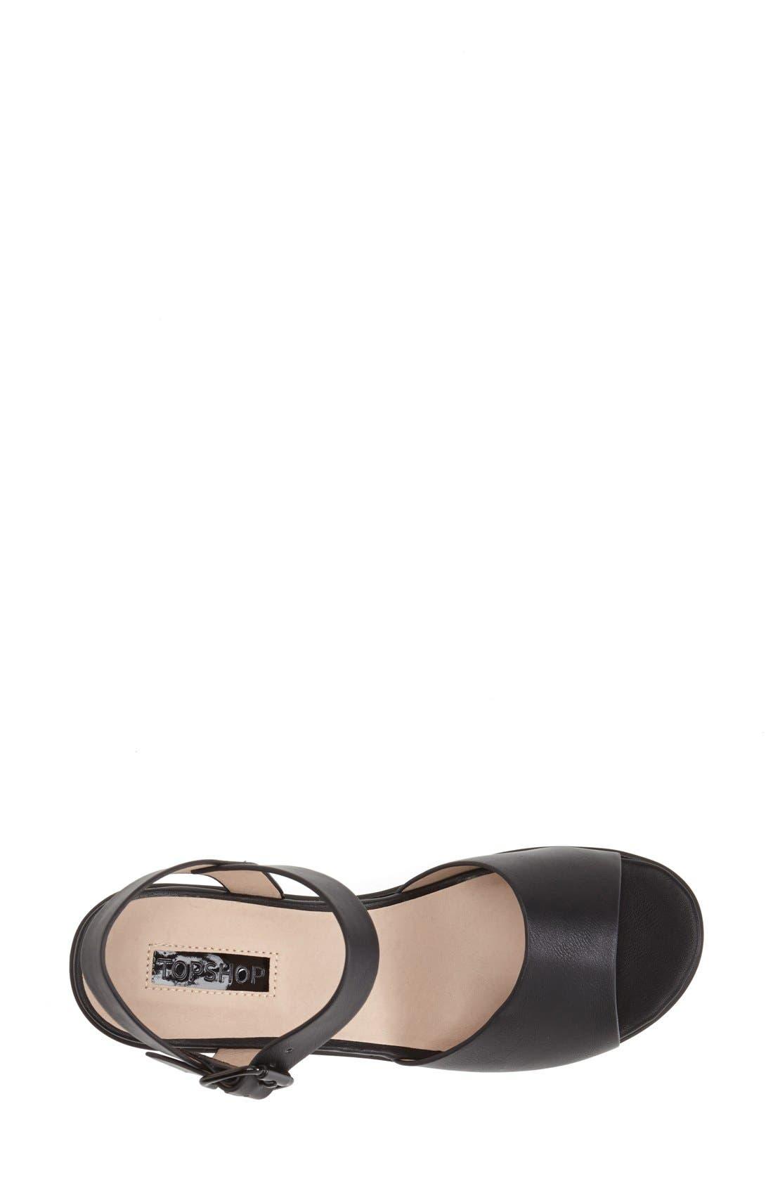 Alternate Image 3  - Topshop 'Hatty' Ankle Strap Sandal (Women)