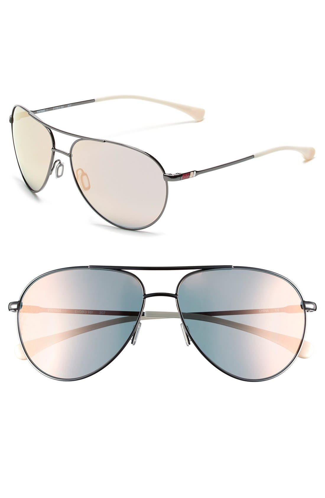 Alternate Image 1 Selected - Nike 'Vintage MDL 82' 61mm Performance Aviator Sunglasses