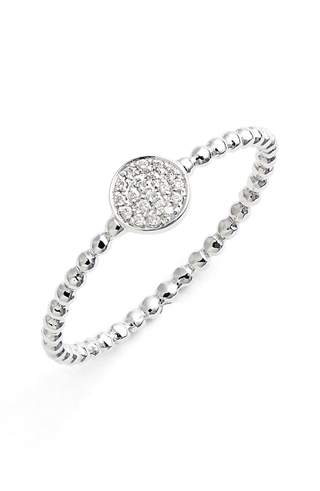 Bony Levy 'Aurora' Diamond Pavé Circle Ring (Nordstrom Exclusive)