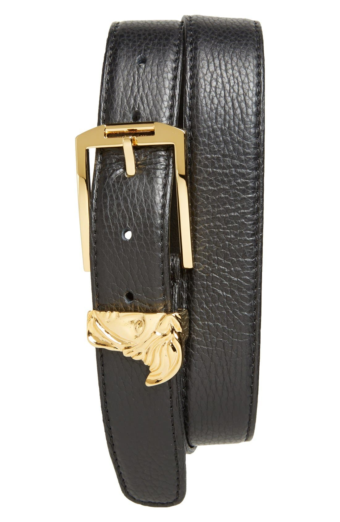 Versace Collection Medusa Leather Belt