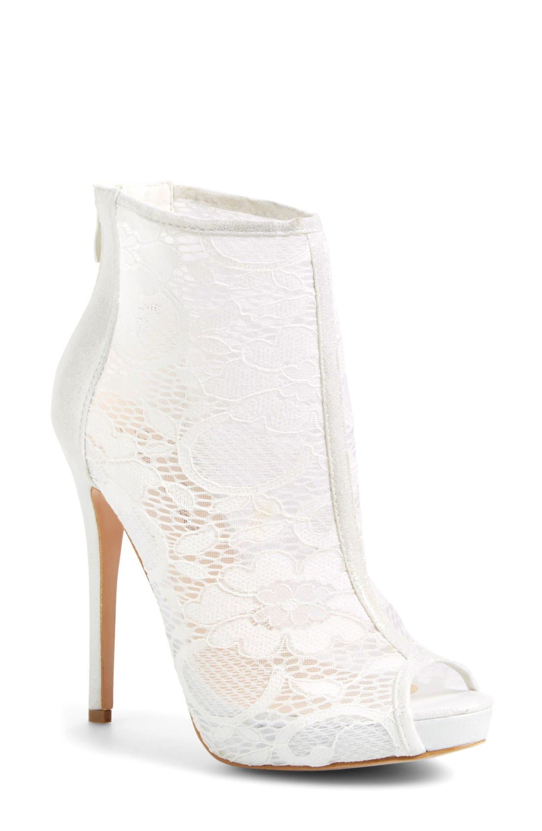 Alternate Image 1 Selected - Lauren Lorraine 'Jeanie' Lace Open Toe Bootie (Women)