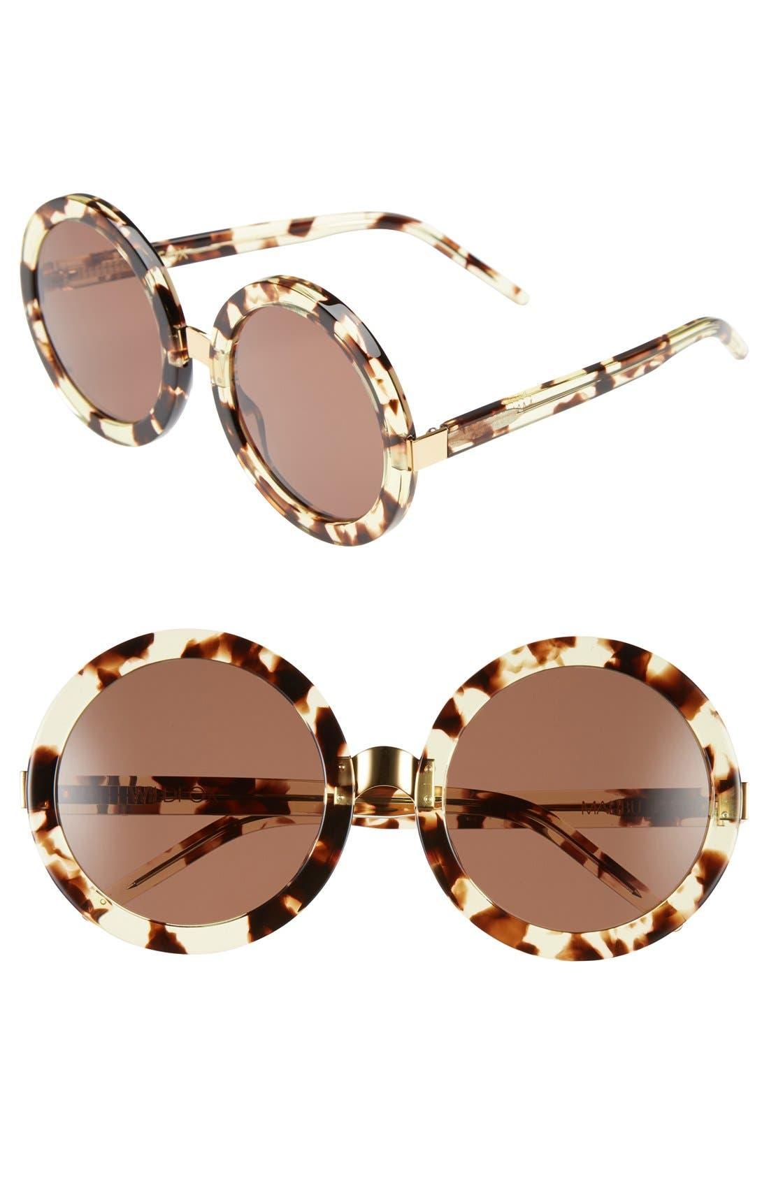 Main Image - Wildfox 'Malibu' 56mm Round Sunglasses