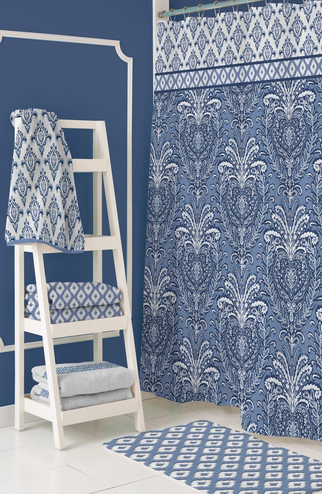 Alternate Image 2  - Dena Home 'Madison' Ikat Print Shower Curtain