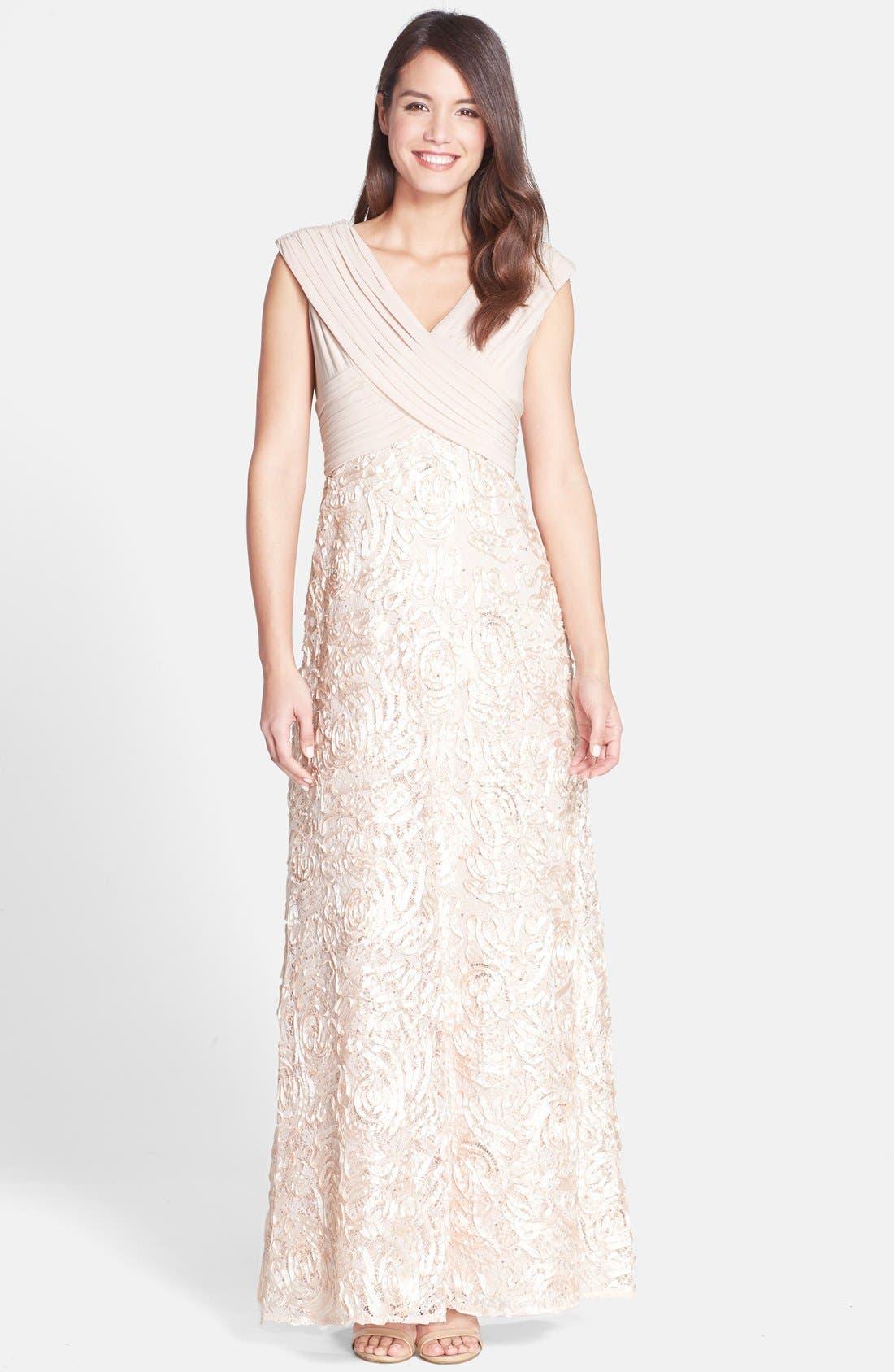Alternate Image 1 Selected - Patra Sequin Ribbon Soutache Gown