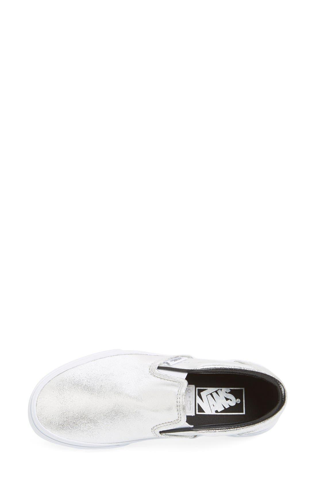 Alternate Image 3  - Vans Metallic Leather Slip-On Sneaker (Women)