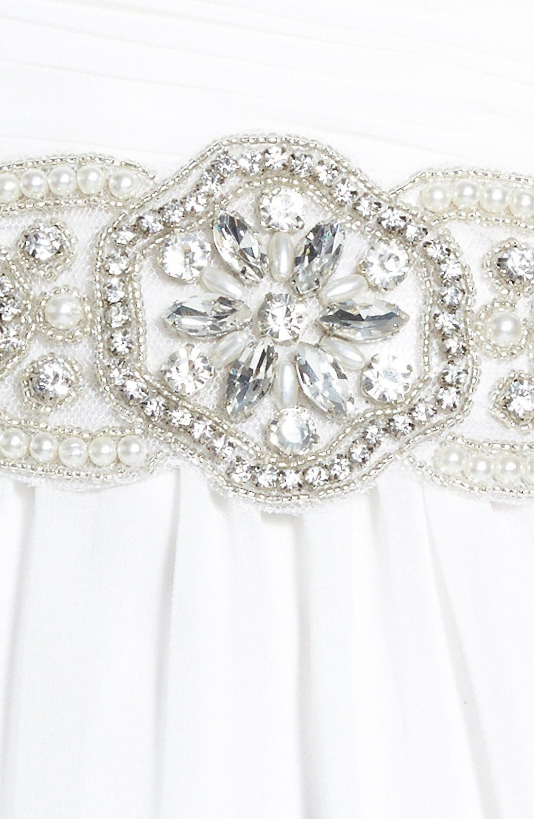 Alternate Image 3  - Nina Faux Pearl & Crystal Medallion Belt