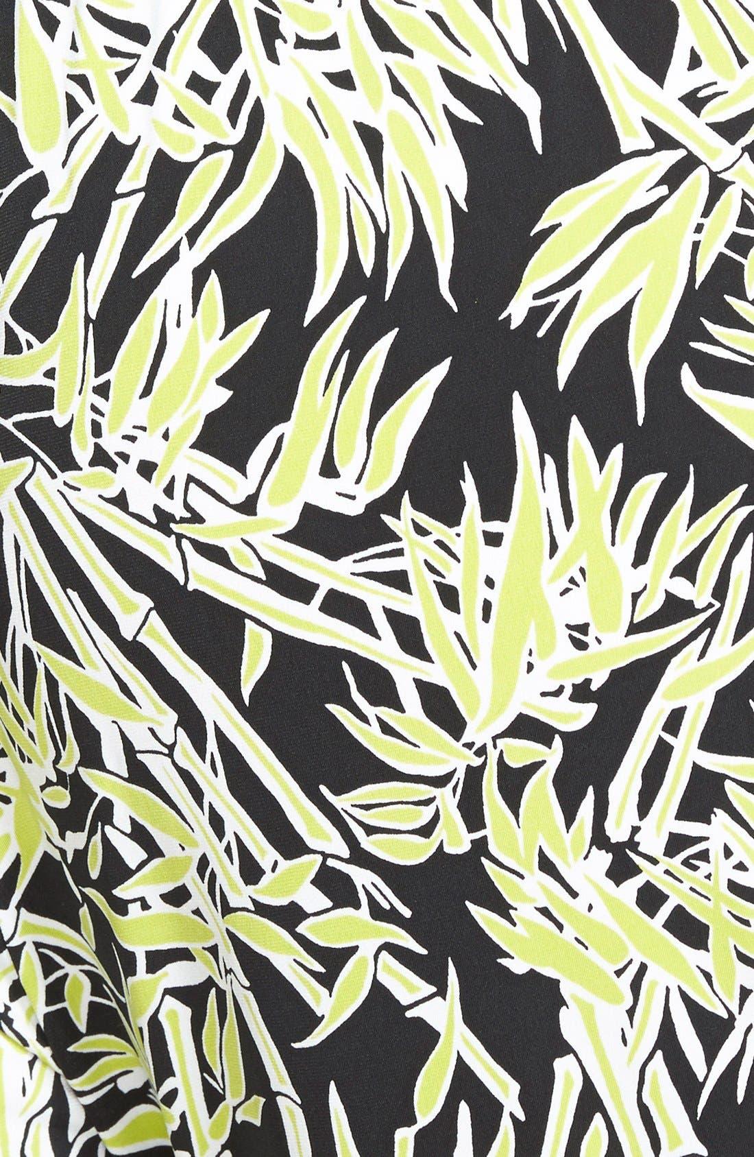 Alternate Image 3  - MICHAEL Michael Kors Bamboo Print Surplice Jersey Jumpsuit (Plus Size)