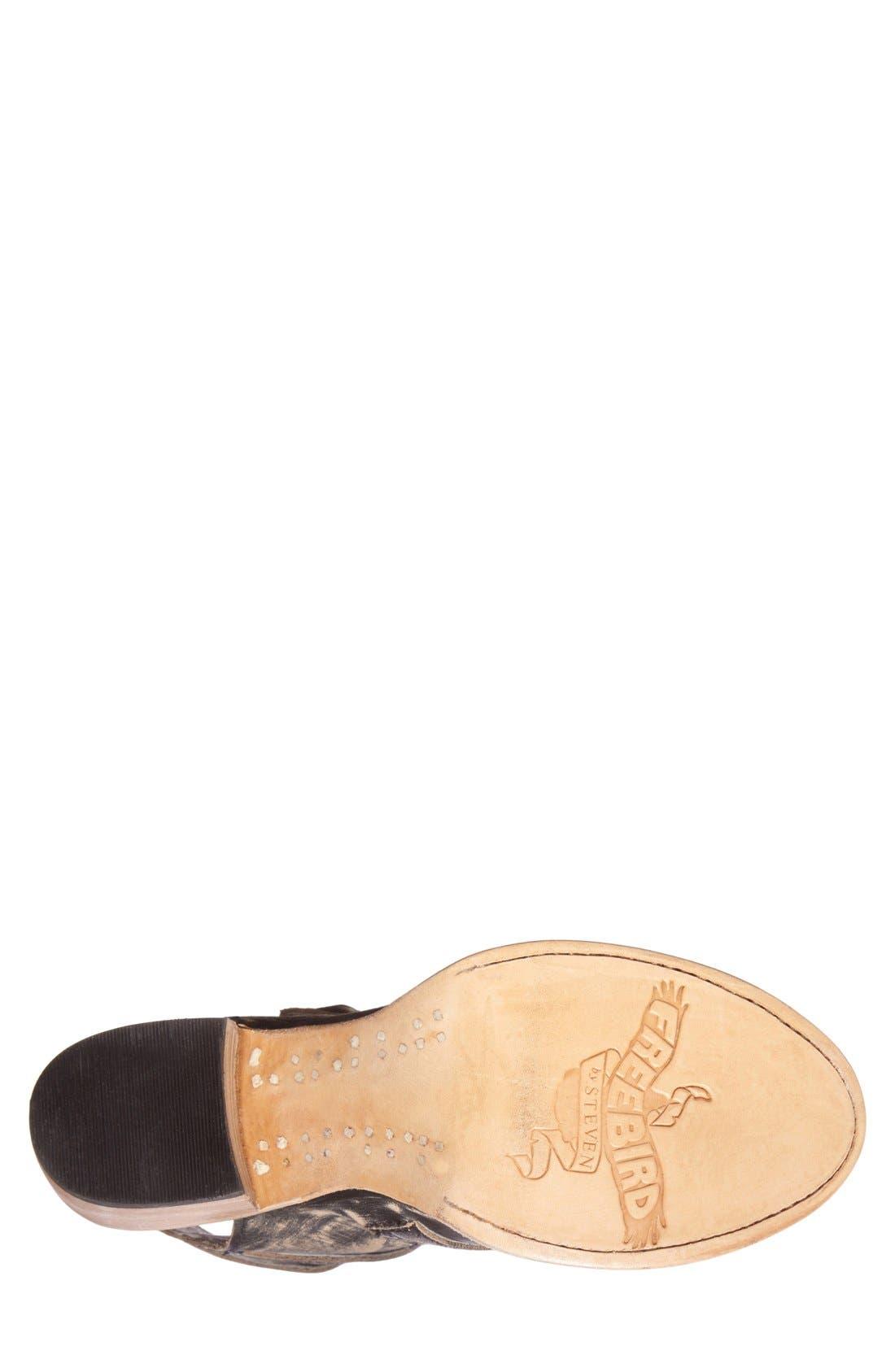 Alternate Image 4  - Freebird by Steven 'Quail' Open Toe Leather Bootie (Women)