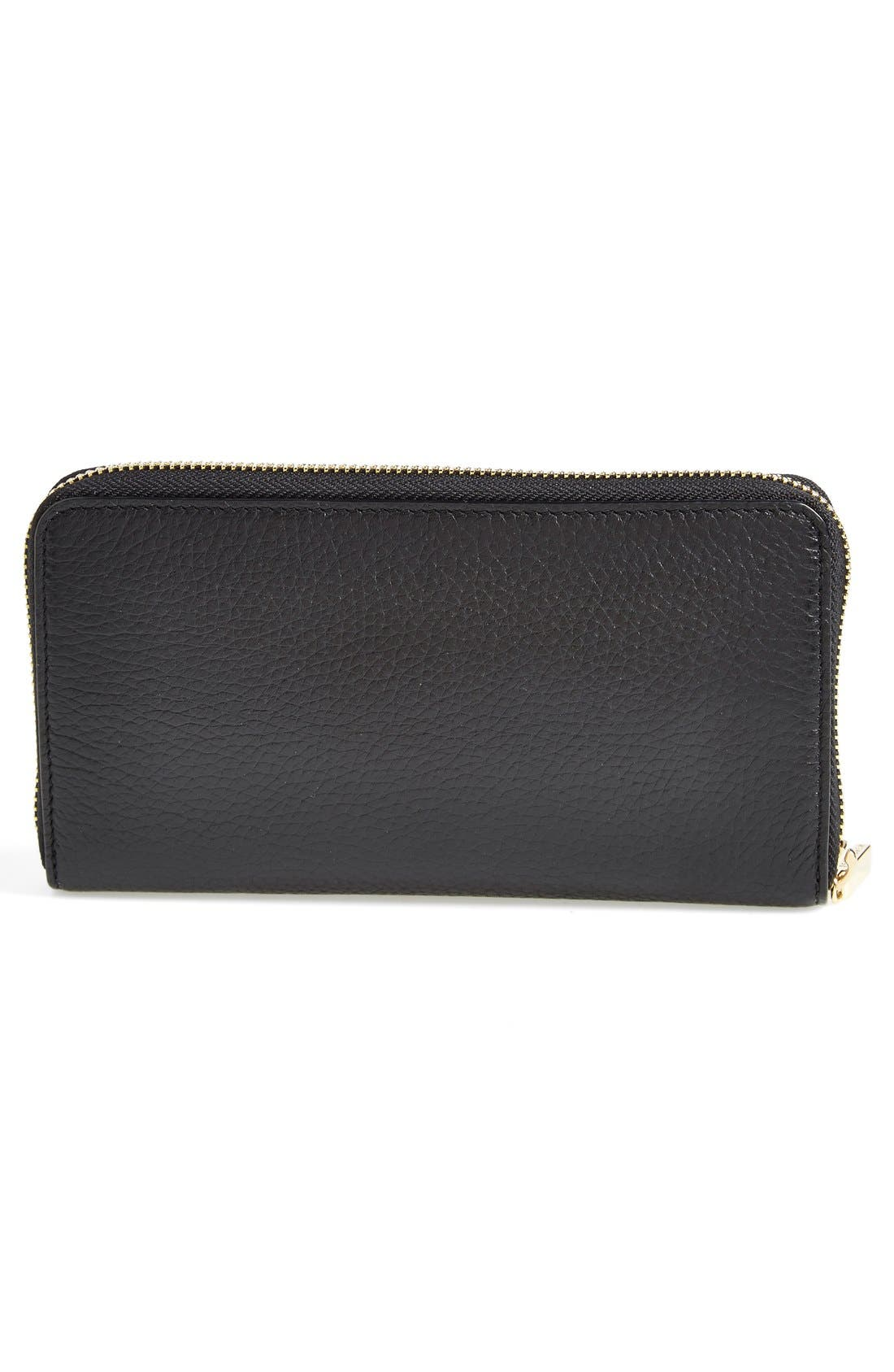 Alternate Image 4  - Tory Burch 'Plaque' Zip Continental Wallet