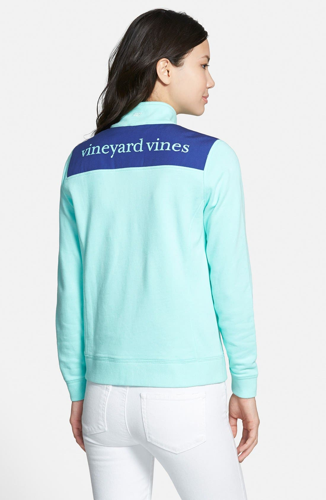 Alternate Image 2  - Vineyard Vines 'Shep' Logo Quarter Zip Pullover