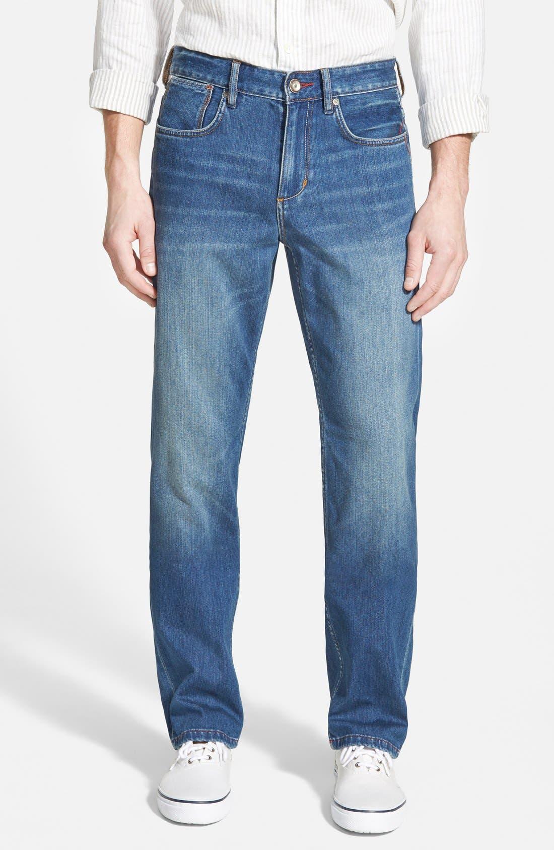 Main Image - Tommy Bahama Denim 'Cooper' Straight Leg Jeans (Blue Overdye)