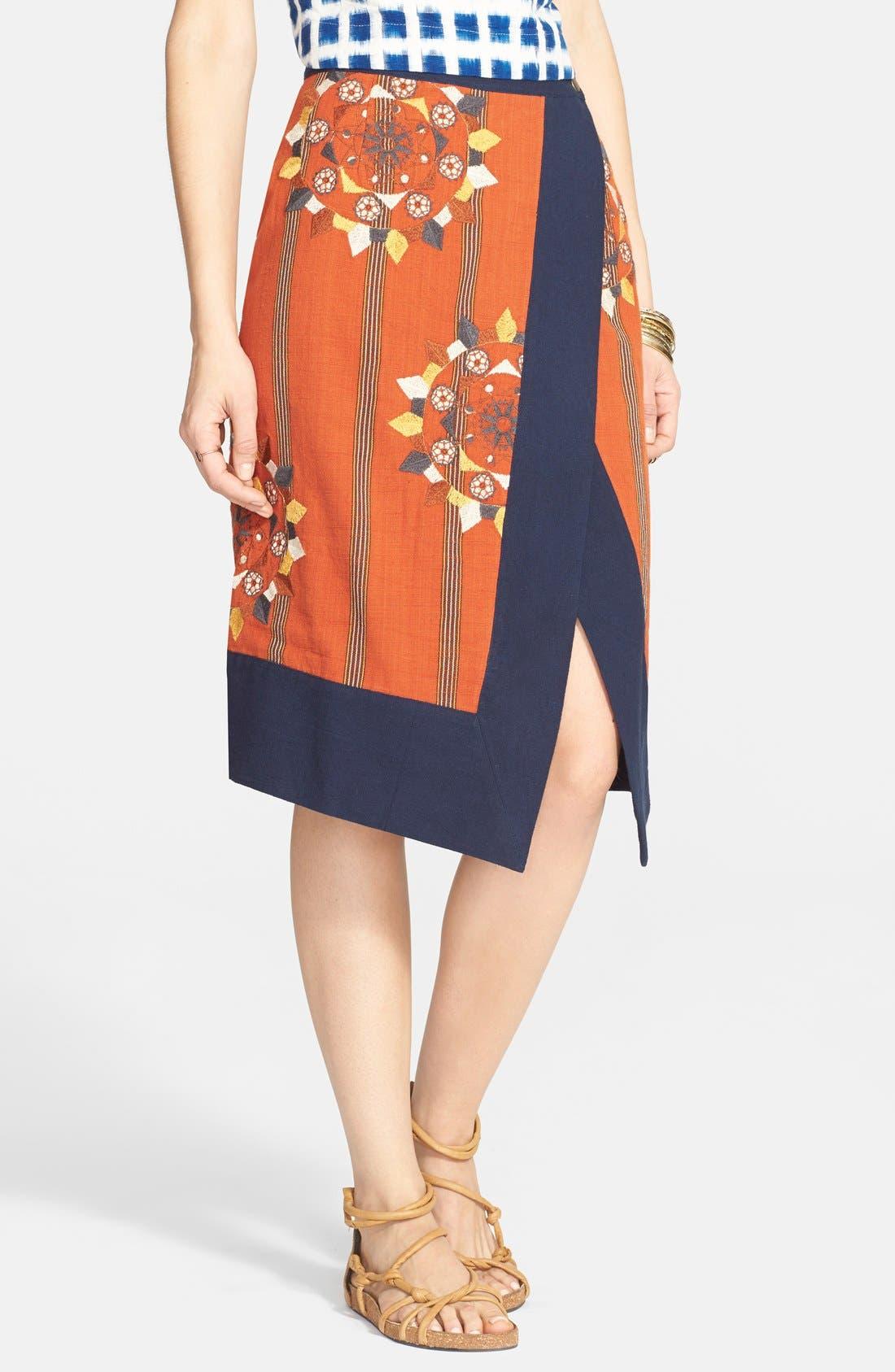 Alternate Image 1 Selected - Free People 'Song Bird' Asymmetrical Wrap Skirt