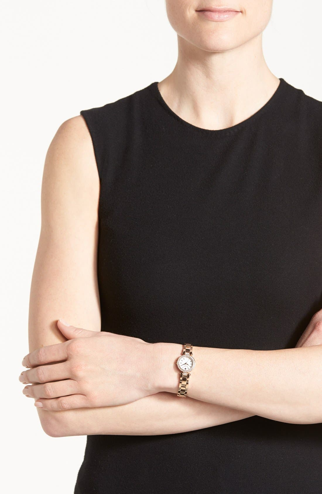 Alternate Image 4  - kate spade new york 'tiny gramercy' crystal bezel bracelet watch, 20mm