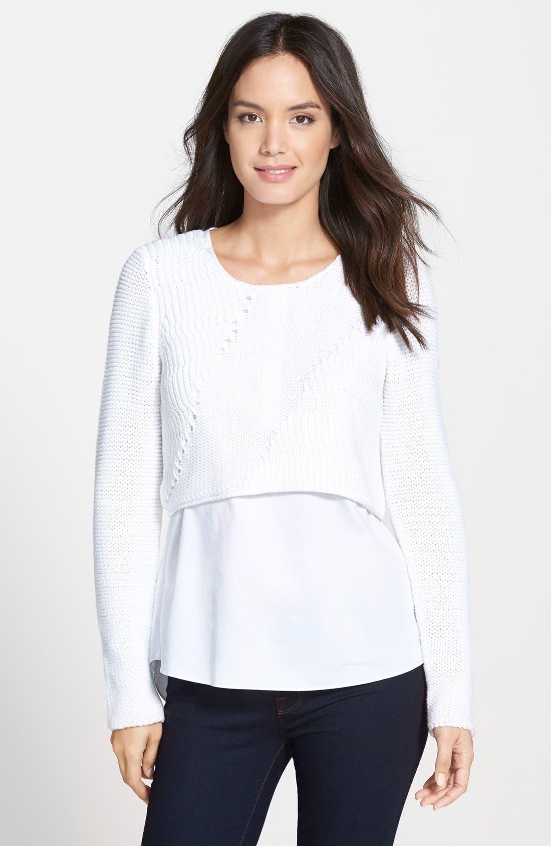 Alternate Image 1 Selected - Elie Tahari 'Elenore' Layered Sweater